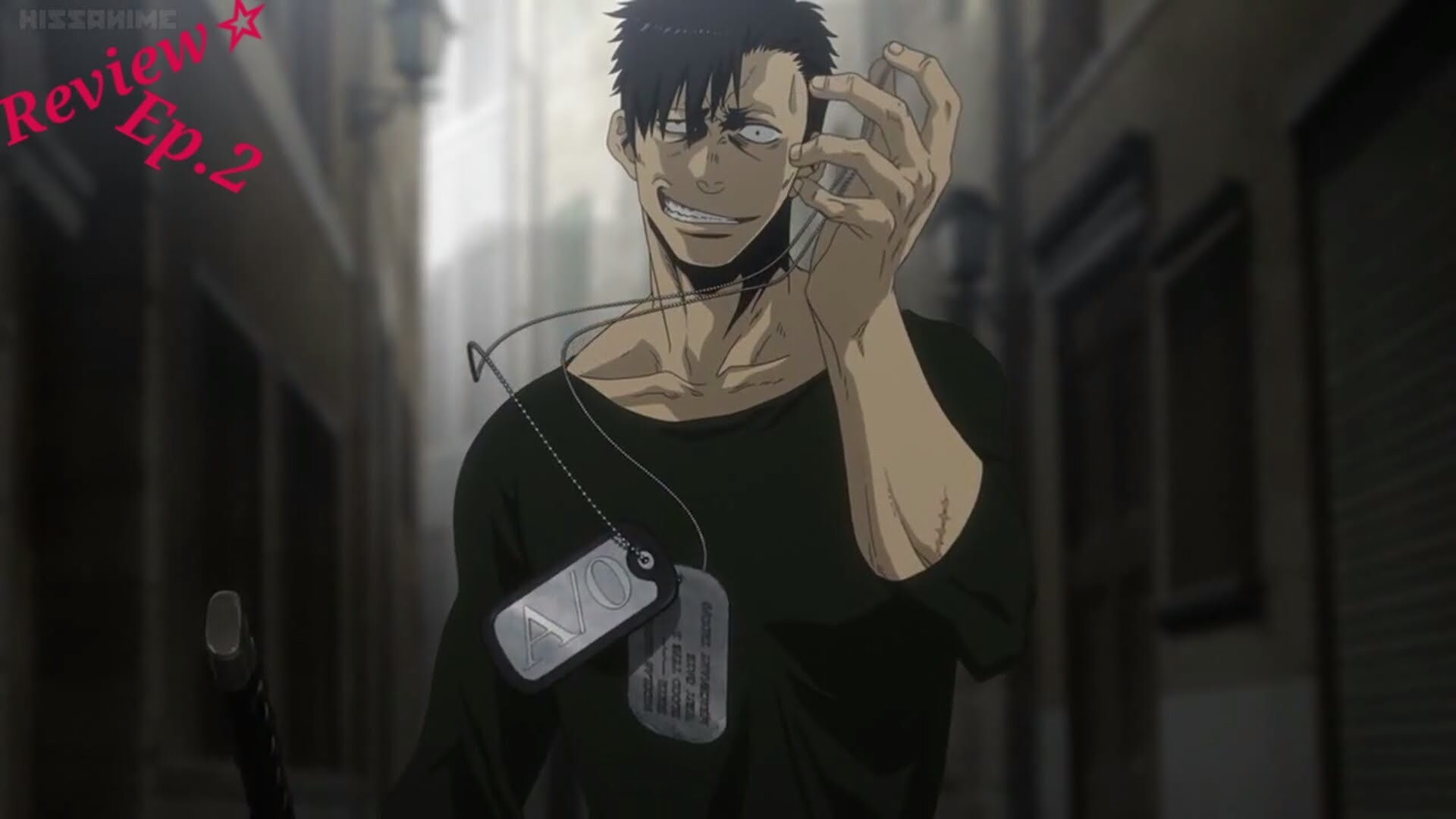 Gangsta Episode 2 ギャングスタ Anime review~ nico epic fight against a B ranked –  YouTube