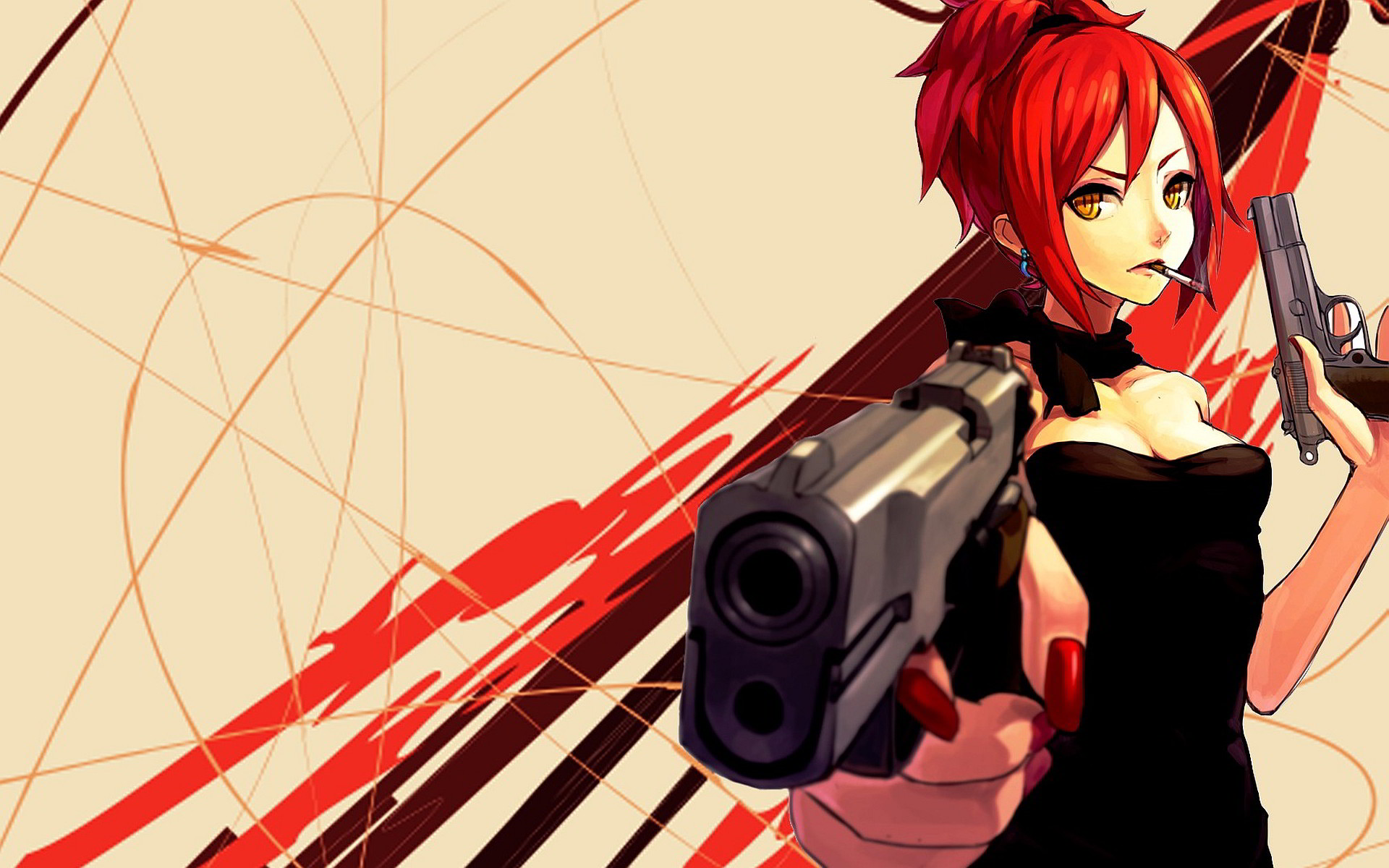 Gangsta Anime Girl With Guns Picture