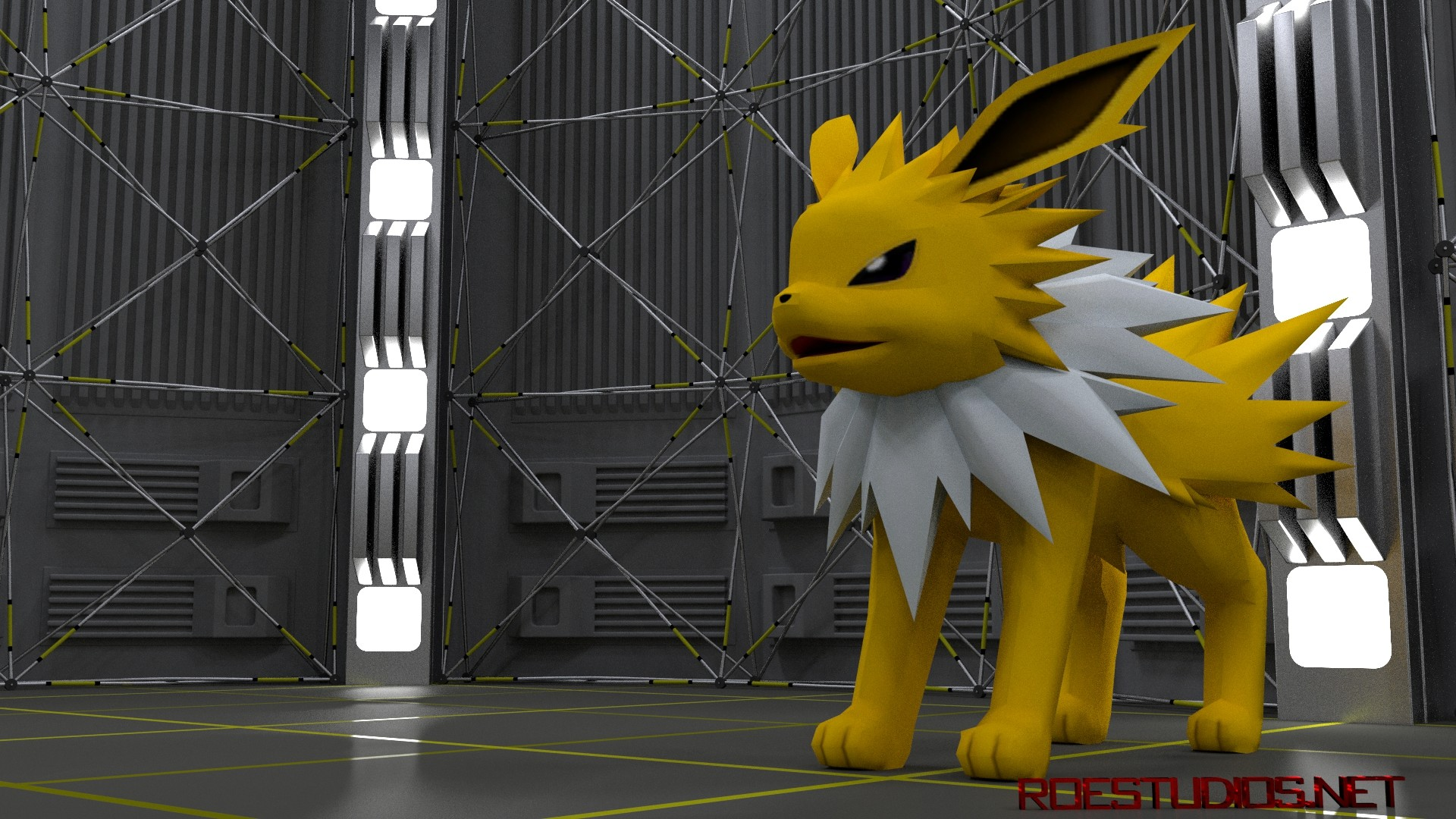 HD image of the Jolteon 3D Model available at ROEStudios.co.uk