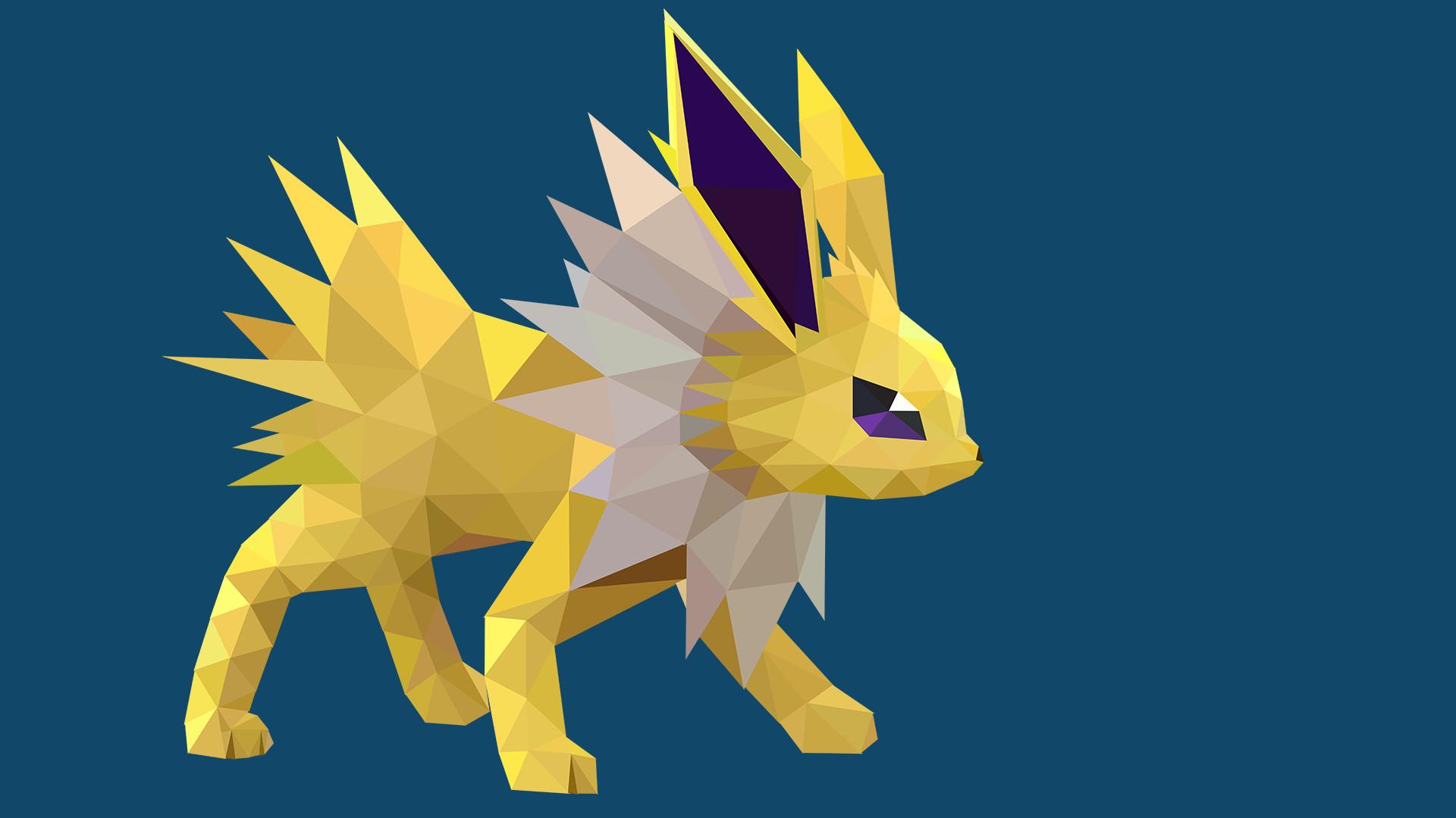 … Low-Poly Jolteon by pikachu-hat