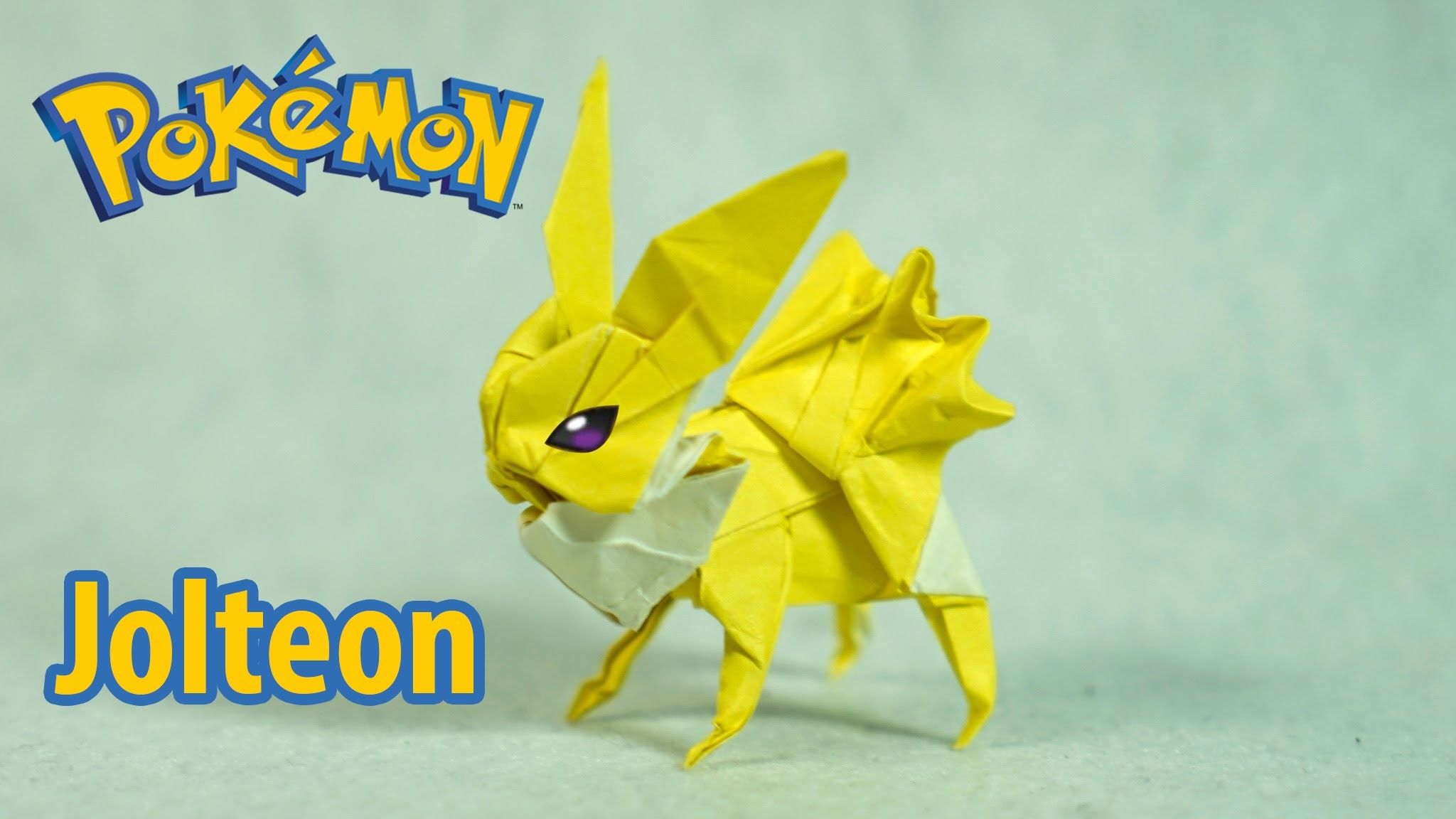 Paper Pokemon – Origami Jolteon – サンダース Tutorial (Henry Phạm)