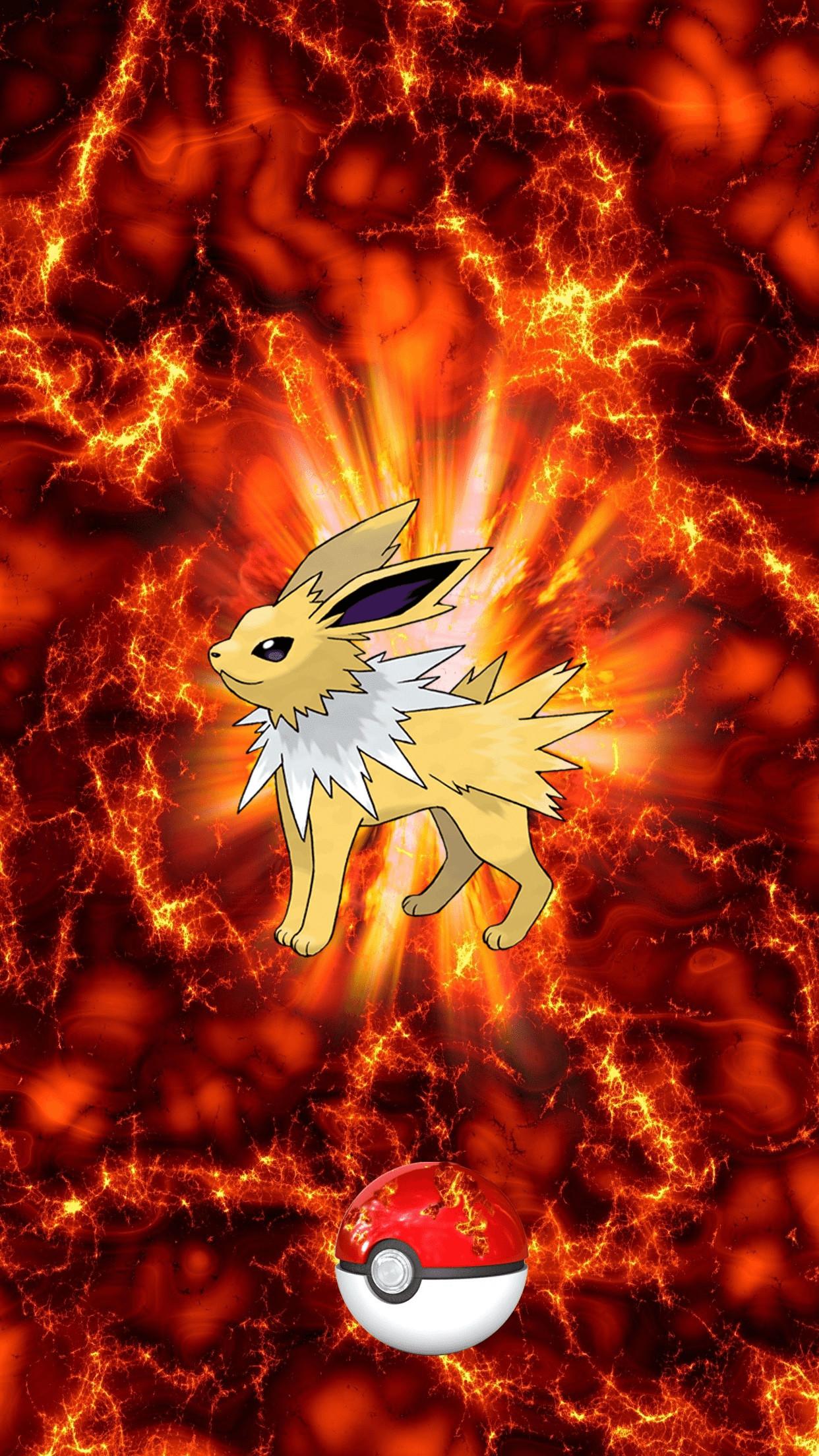 135 Fire Pokeball Jolteon Thunders Eevee