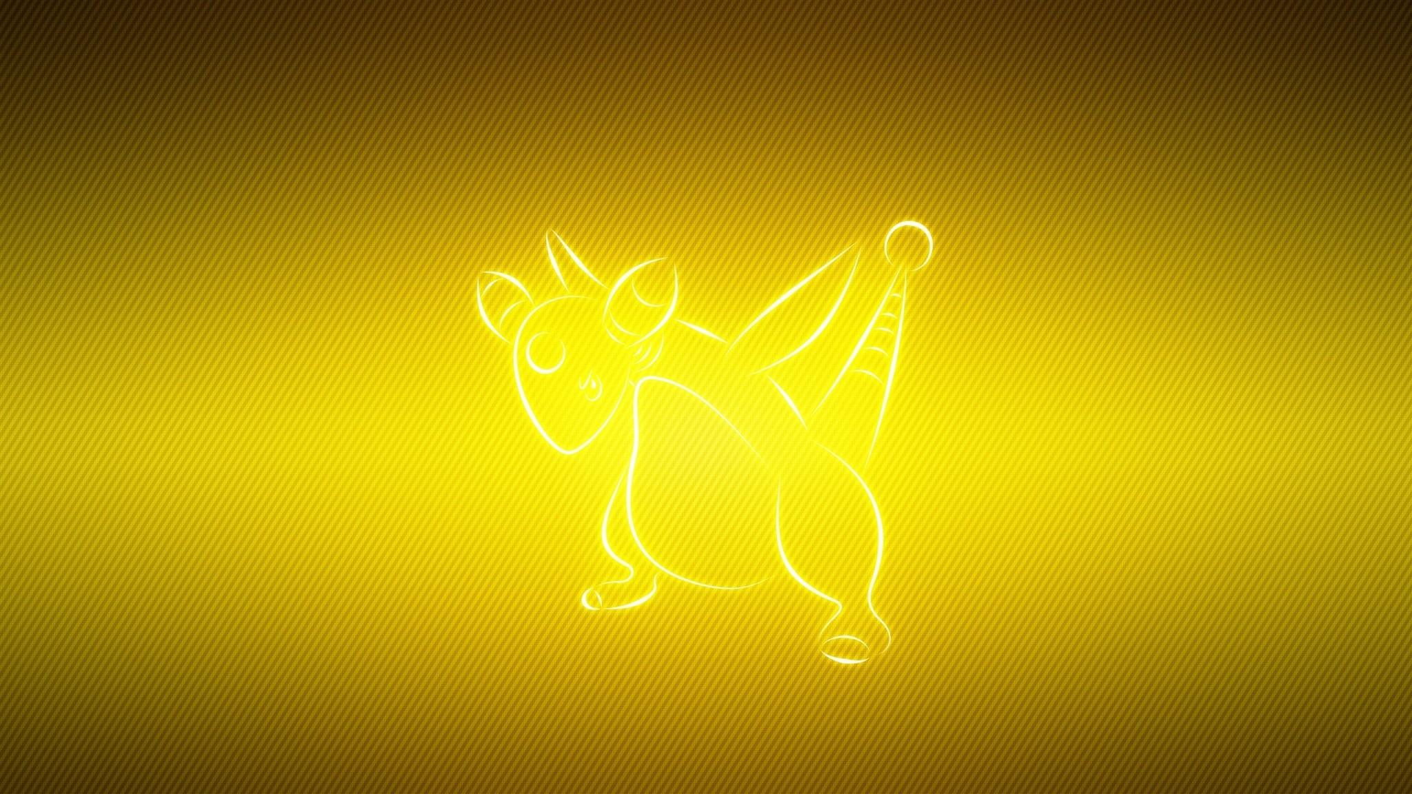 Wallpaper ampharos, pokemon, animal, yellow