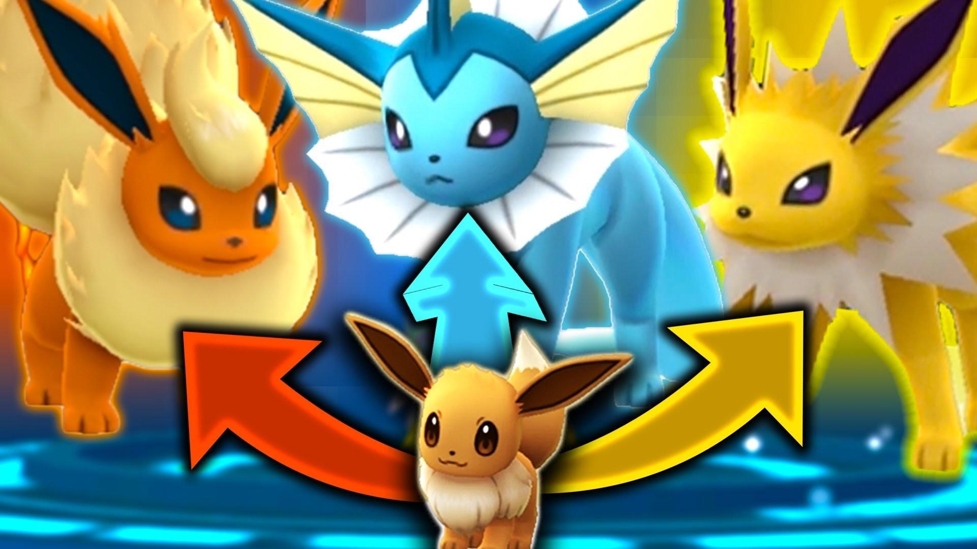 Pokemon Go How To Evolve Eevee into a Vaporeon Jolteon or Flareon – YouTube