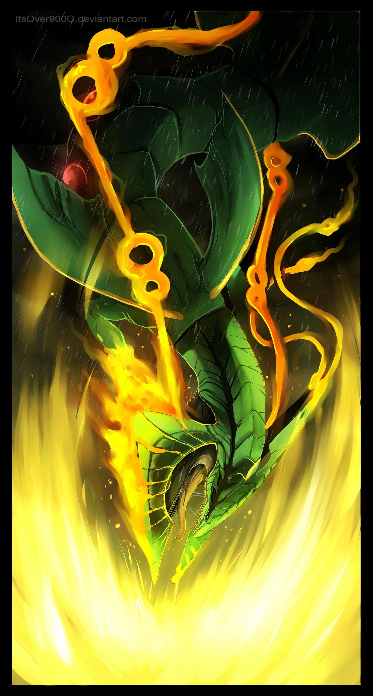 … Mega Rayquaza: Dragon Ascent by Ink-Leviathan