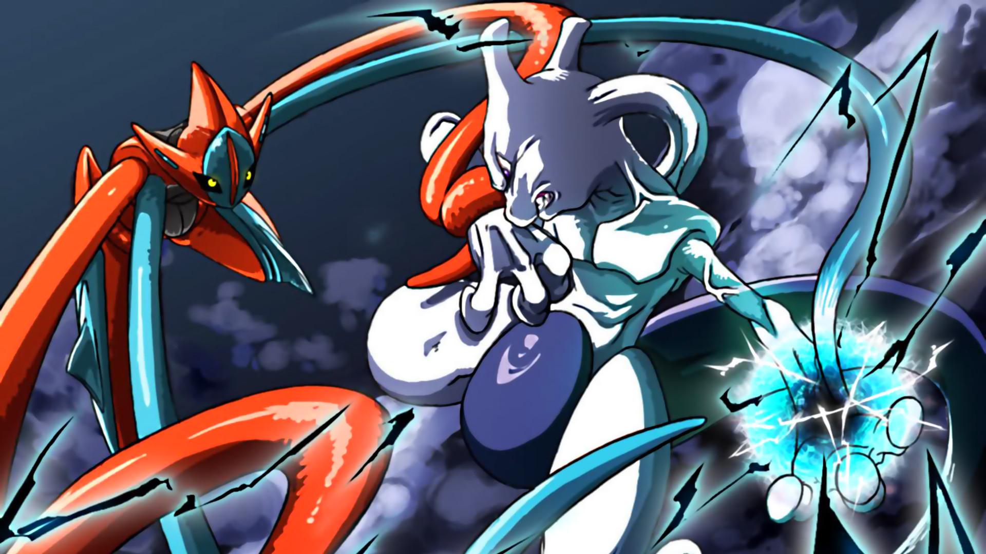 Pokemon Deoxys Vs Mewtwo HD Wallpaper by tommospidey.deviantart.com on  @deviantART