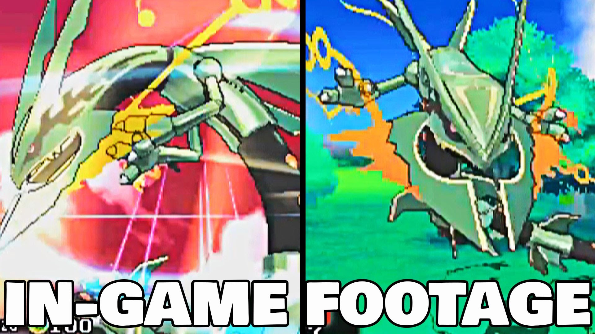 Pok̩mon Omega Ruby & Alpha Sapphire MEGA RAYQUAZA IN GAME FOOTAGE!!  [Thoughts & Ideas] РYouTube