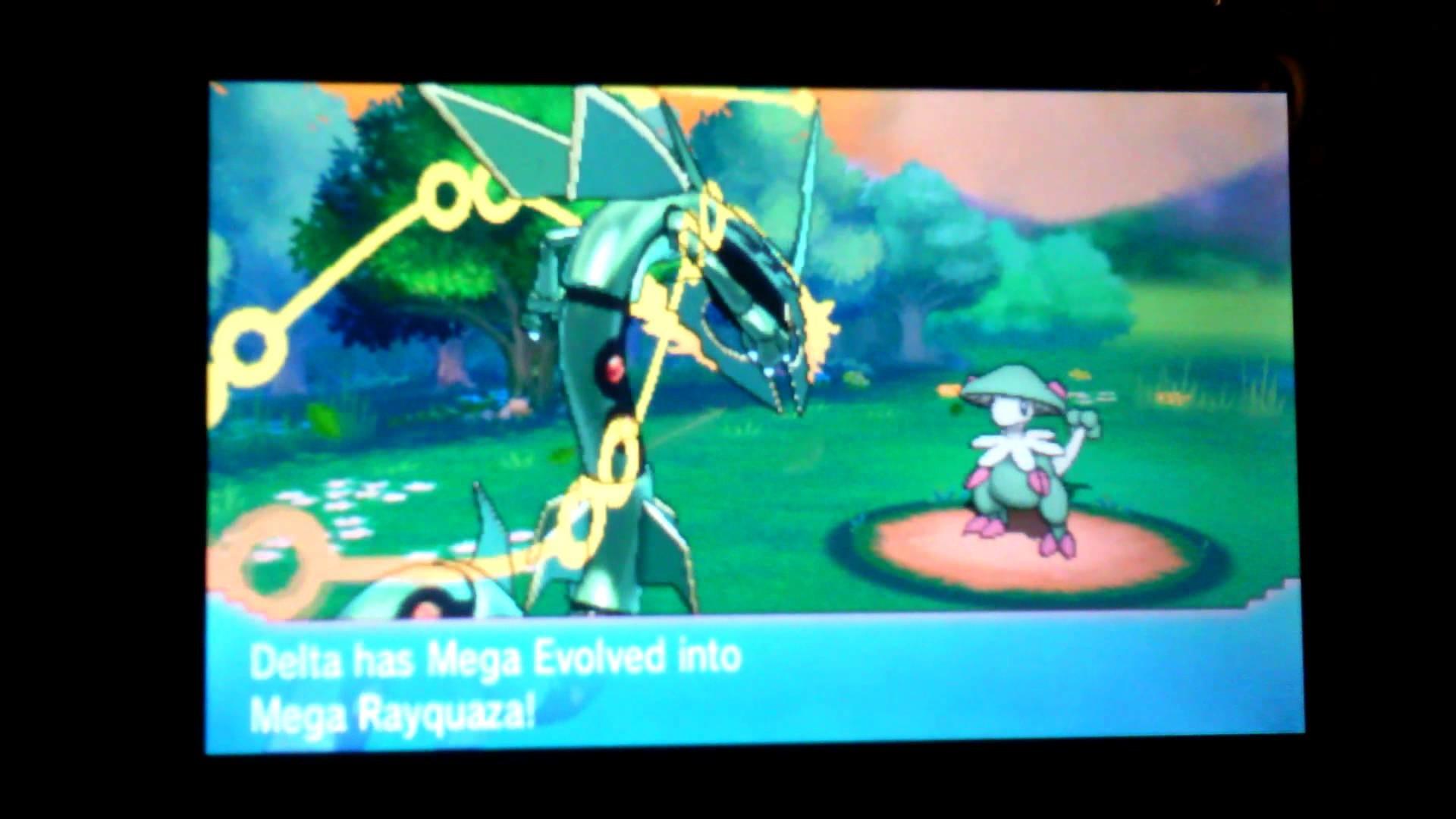 Pokémon ORAS Mega Rayquaza Dragon Ascent Animation