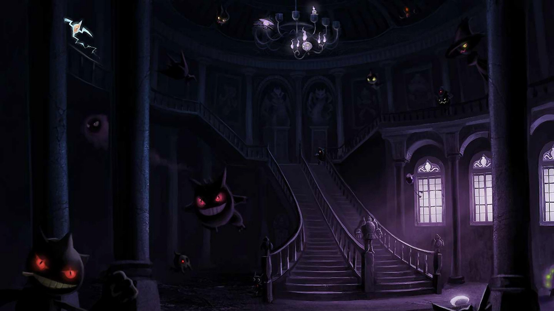 Lavender town pokemon ghastly gengar and other ghost type wallpaper