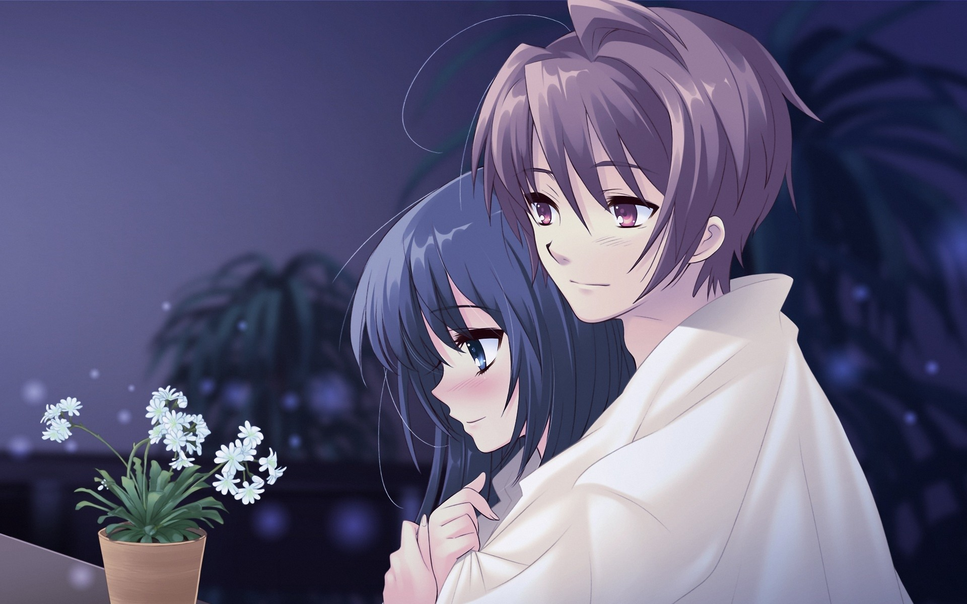 Cute Anime Couple Love Wallpaper