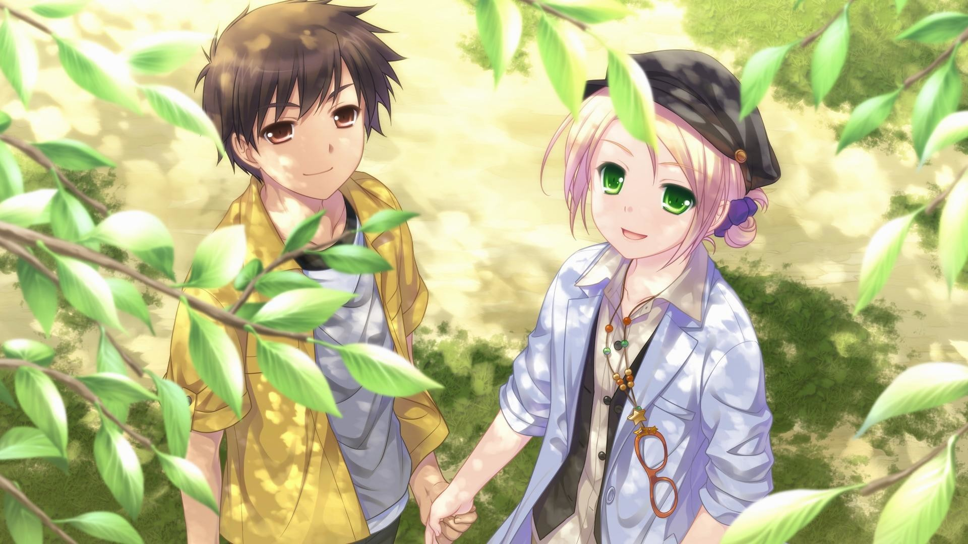 wallpaper.wiki-Free-Download-Cute-Anime-Couple-Wallpaper-