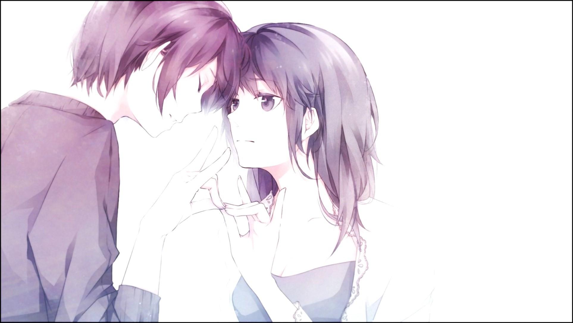 cute anime couple hd wallpaper