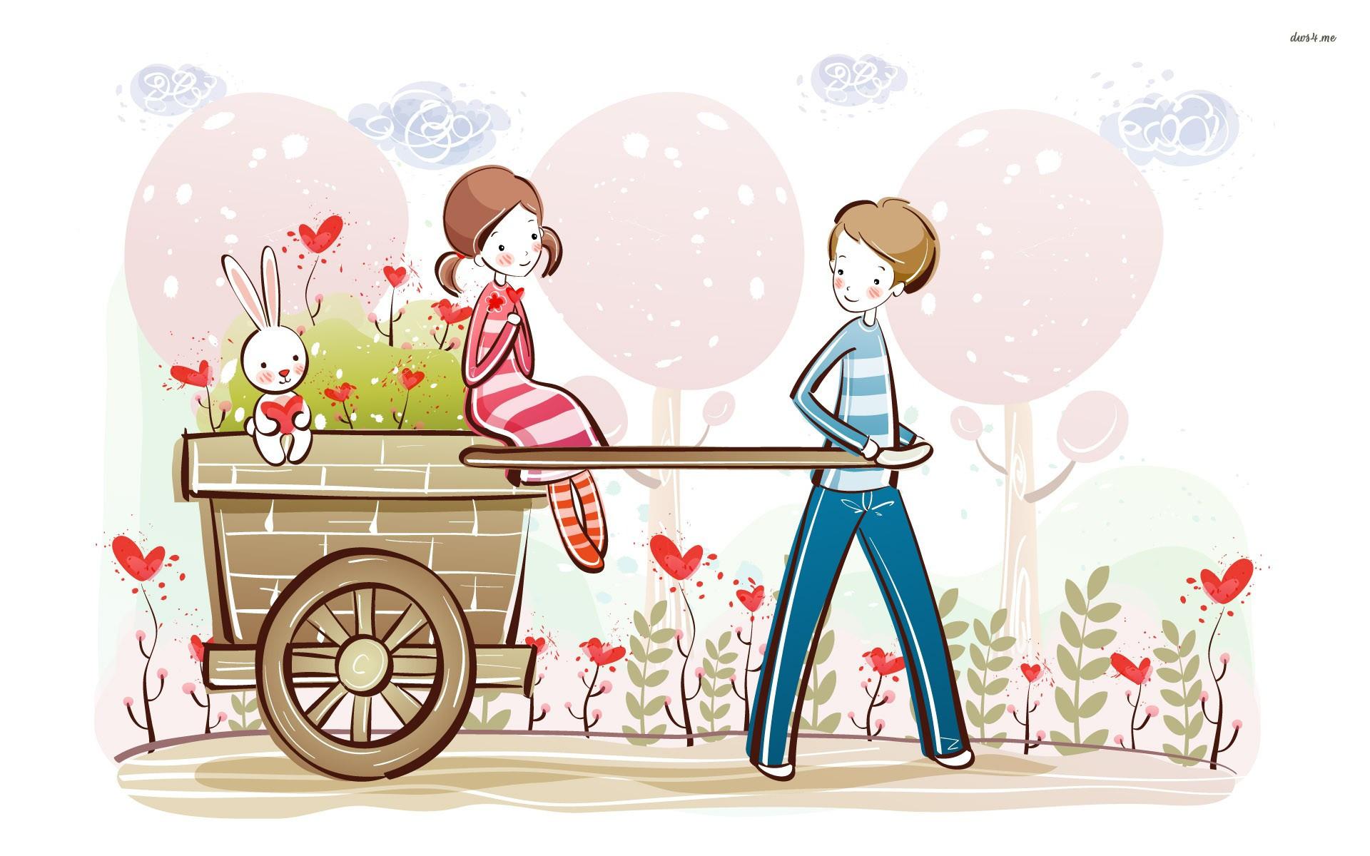 Love couple wallpaper – Digital Art wallpapers – #5435