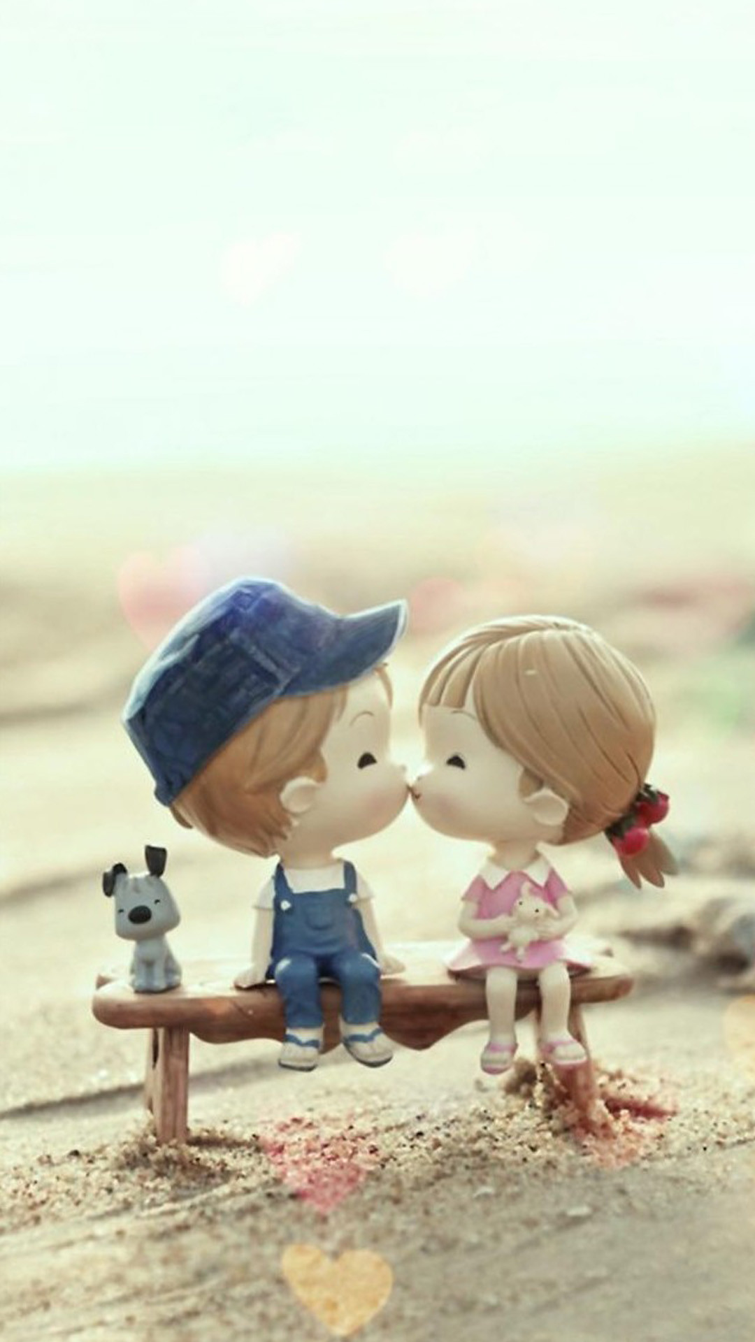 2054 9 Cute Cartoon Kissing Cute Anime Couple Wallpapers For Mobile