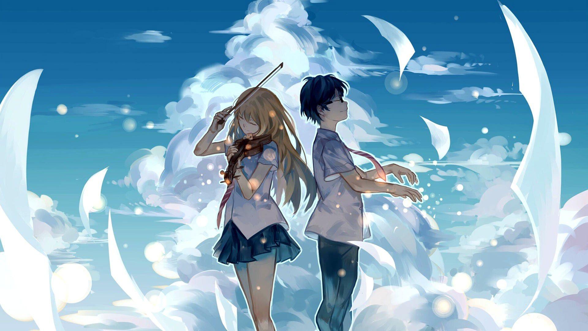 Anime couples hd wallpaper