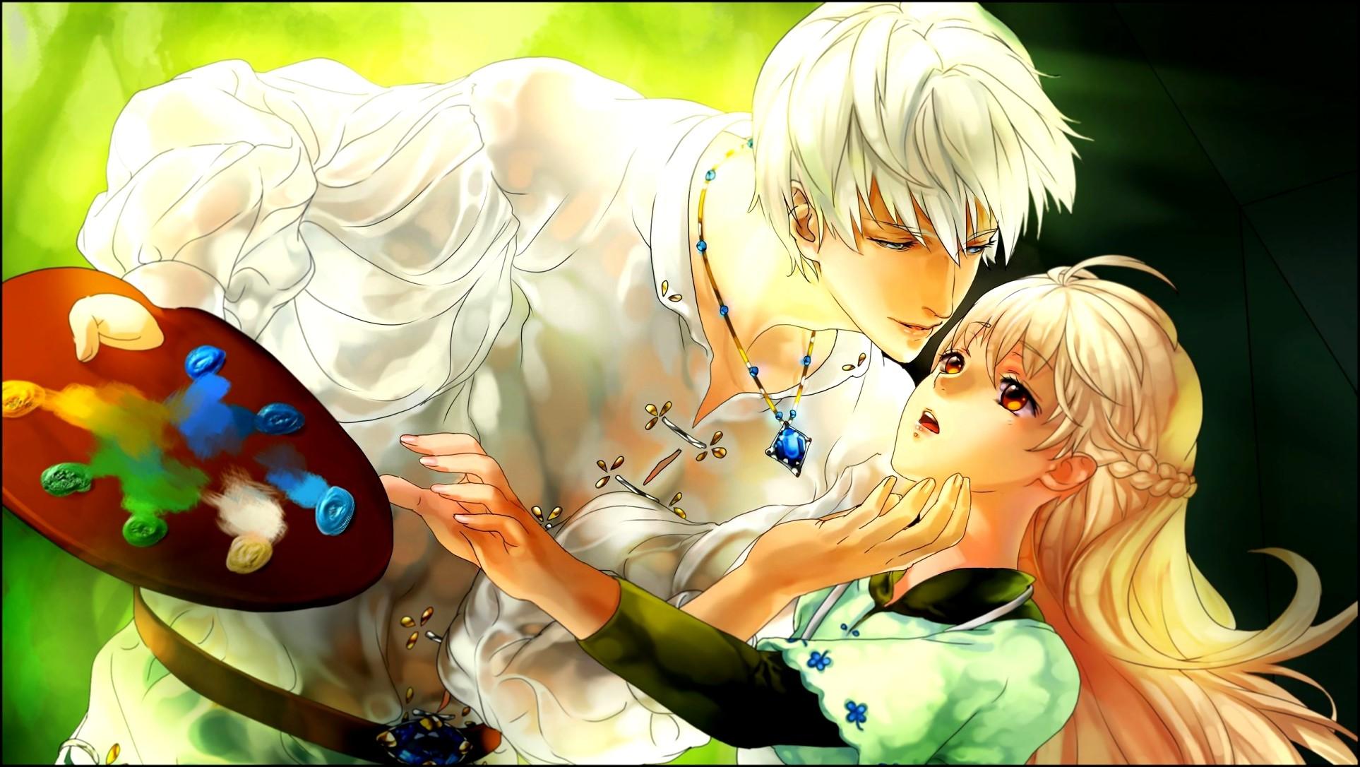 cute anime couple wallpaper. Download Wallpaper / Select Resolution ↓.  Original. 1926×1086