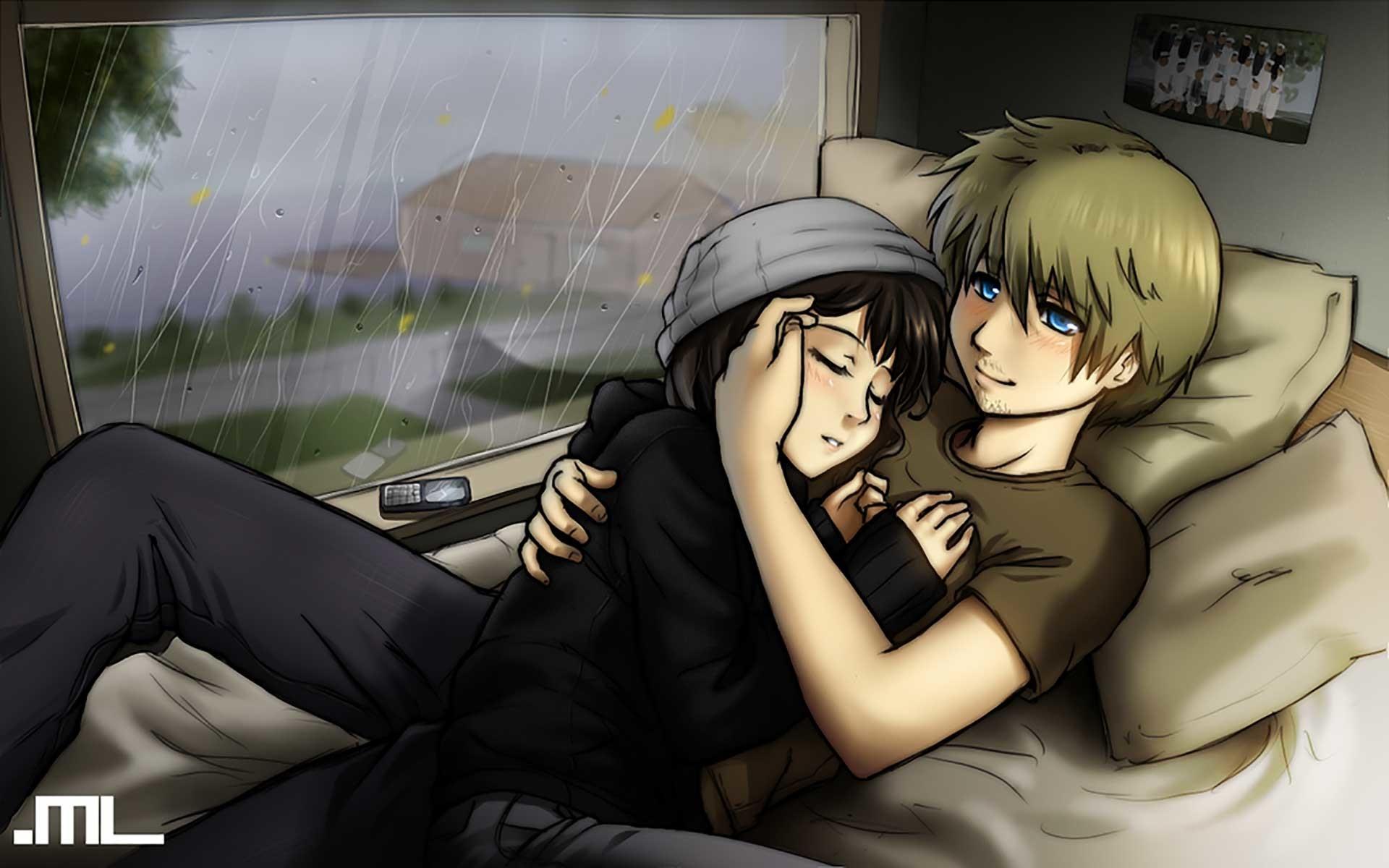 Cute Cartoon love couple hug | Img Need