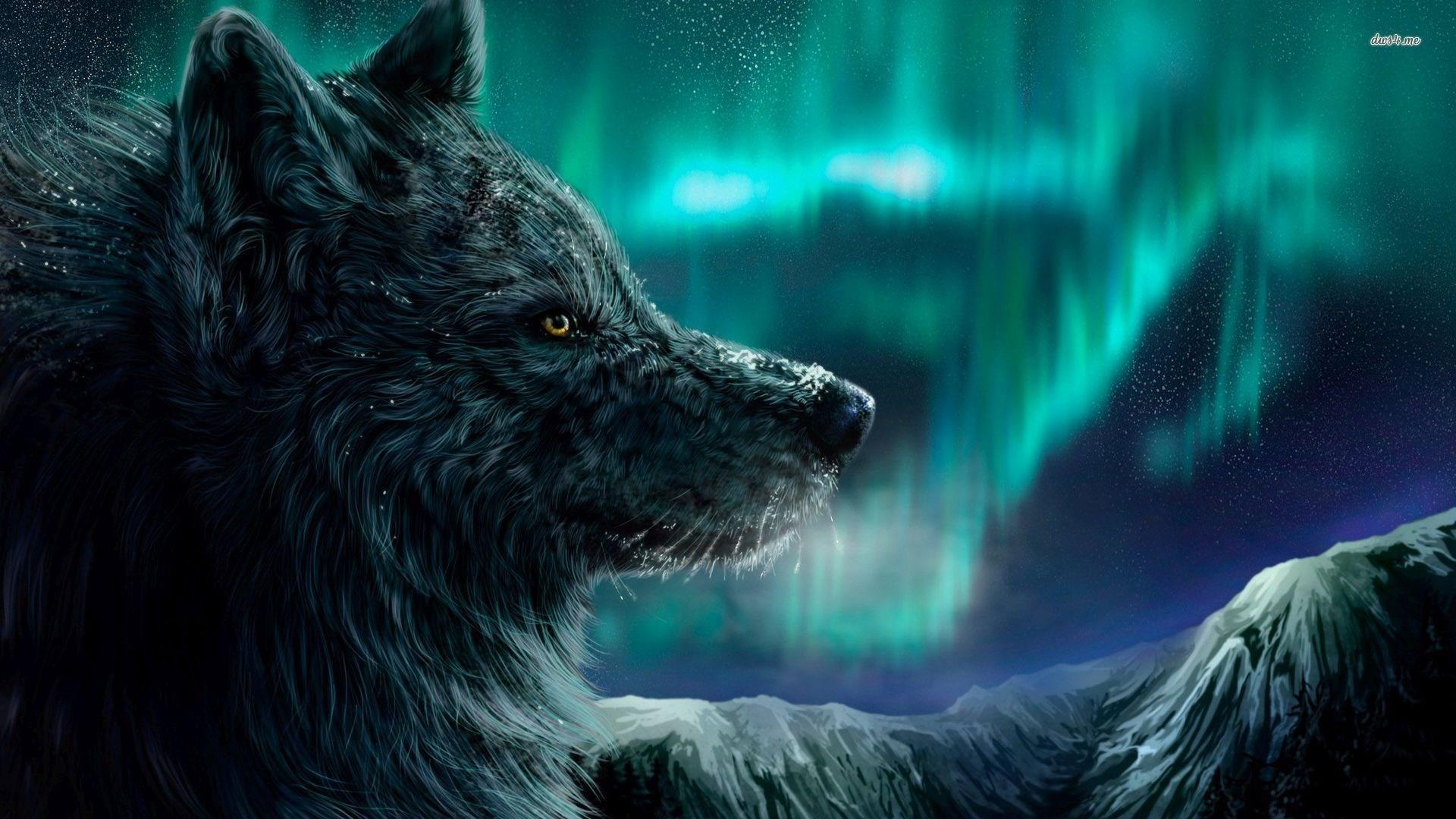 wolf art wallpaper 1080p high quality, 1920 x 1080 (273 kB)