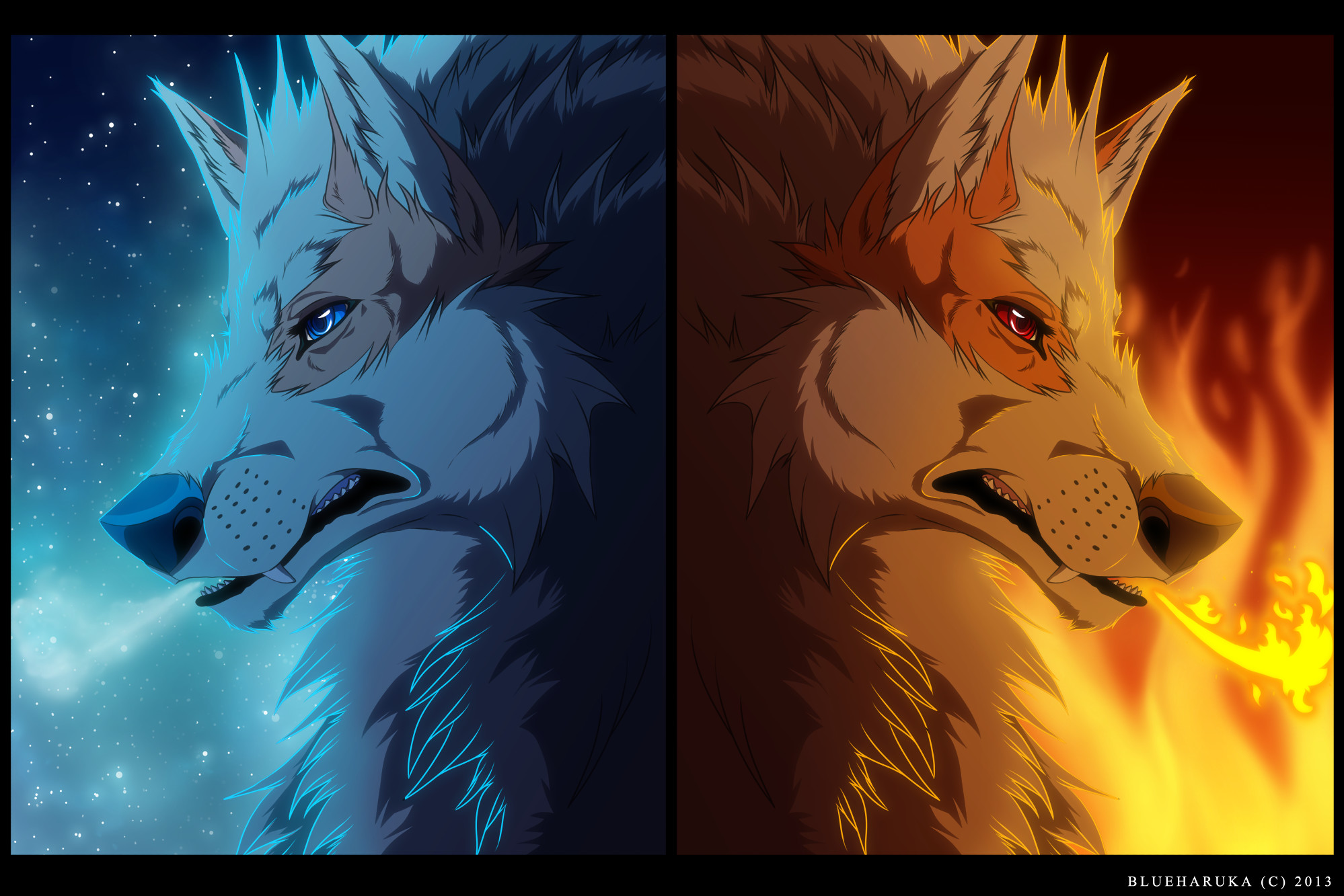 Fire And Ice Wolf Wallpaper Arcanine: fire and ice by
