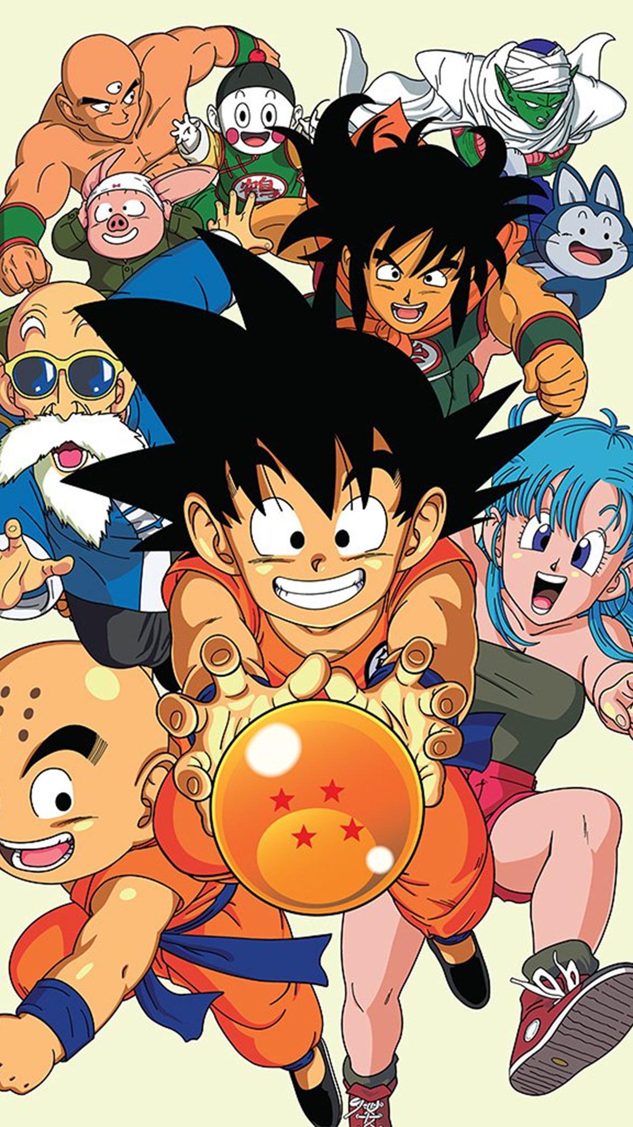 Dragon-Ball-Dragon-Ball-Family-3Wallpapers-iPhone-Parallax