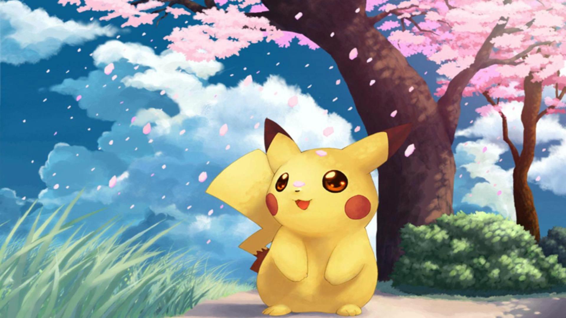 Most Beautiful Cartoon Pikachu HD Wallpaper