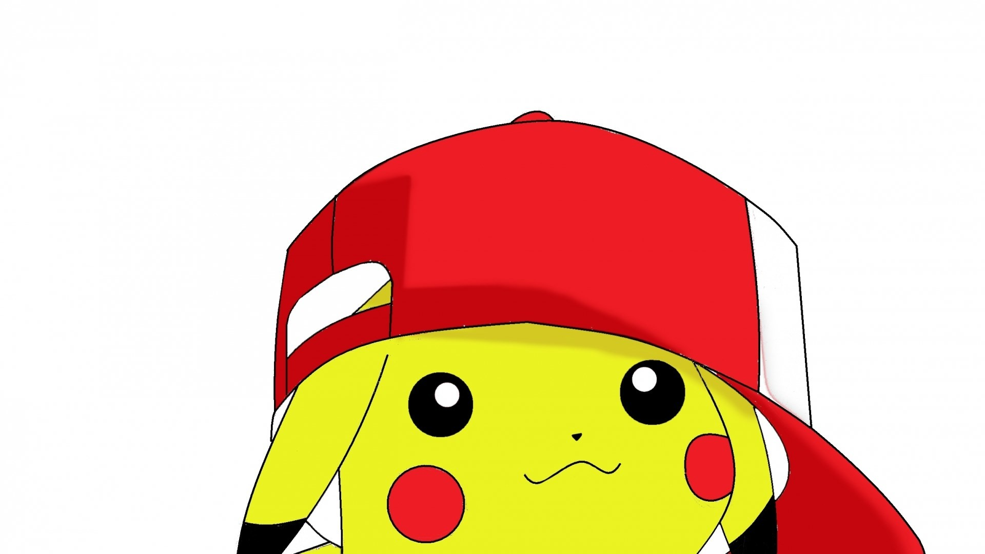 pokemon pikachu simple background white wallpaper hd