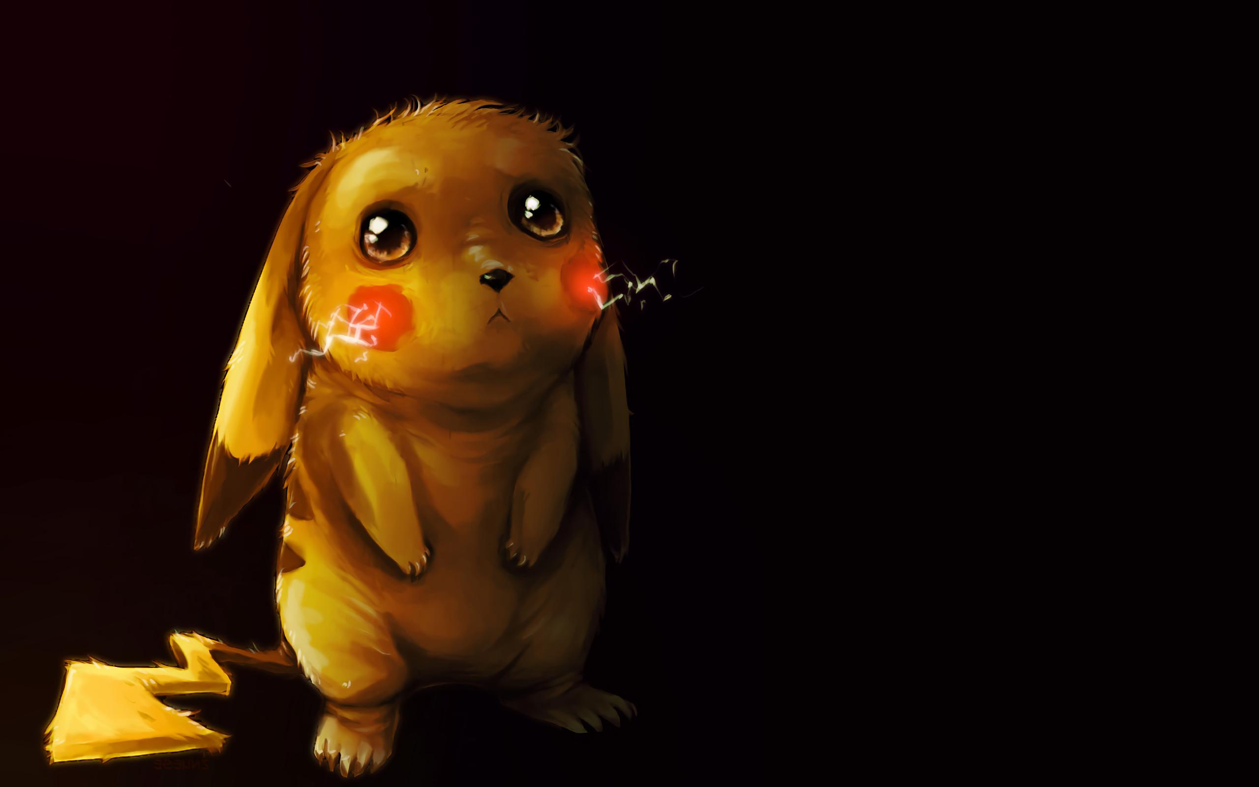 Anime Pokemon Pikachu Pokémon Sad Cute Electric Pokémon Wallpaper