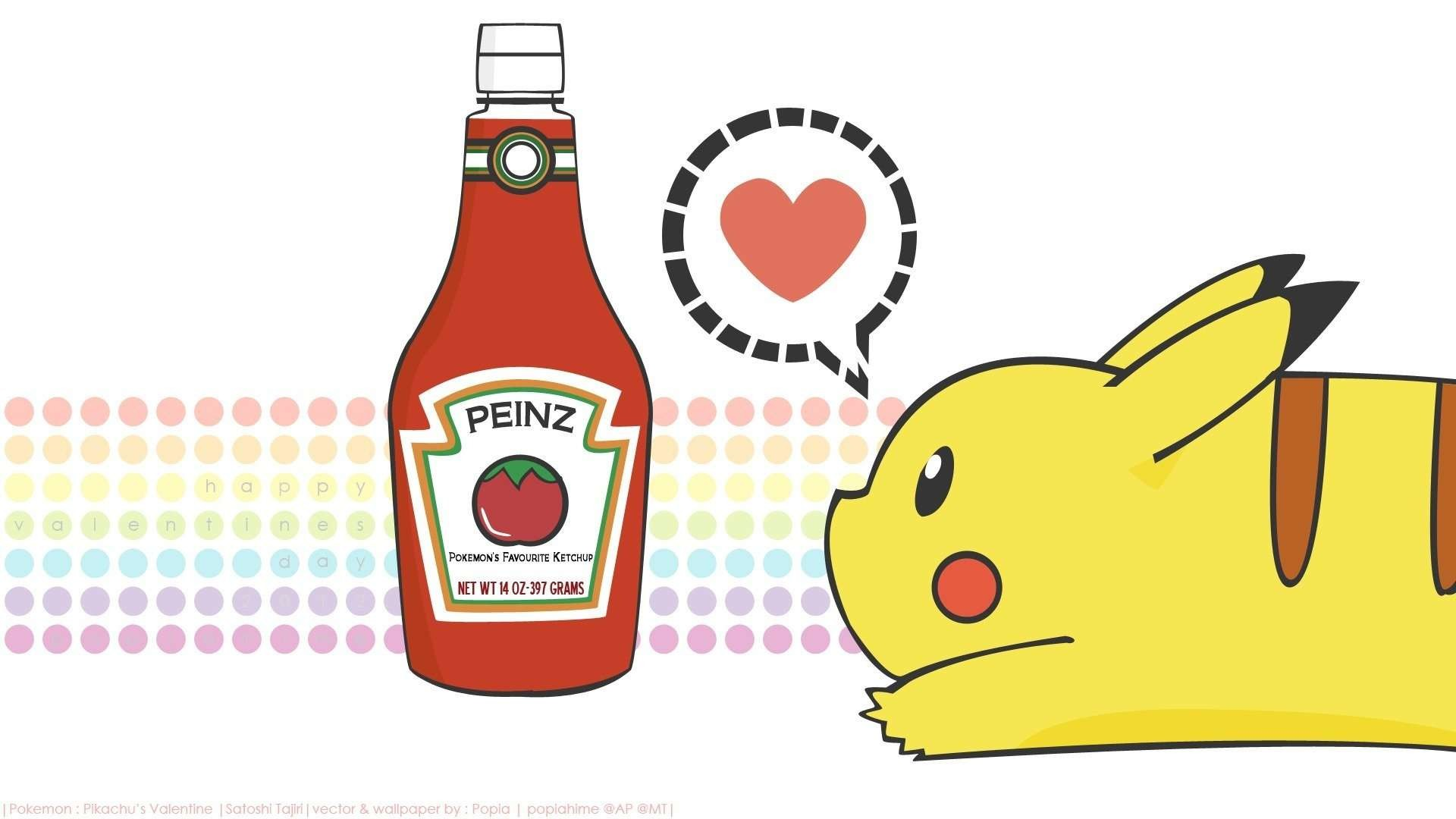 pikachu with ketchup wallpaper
