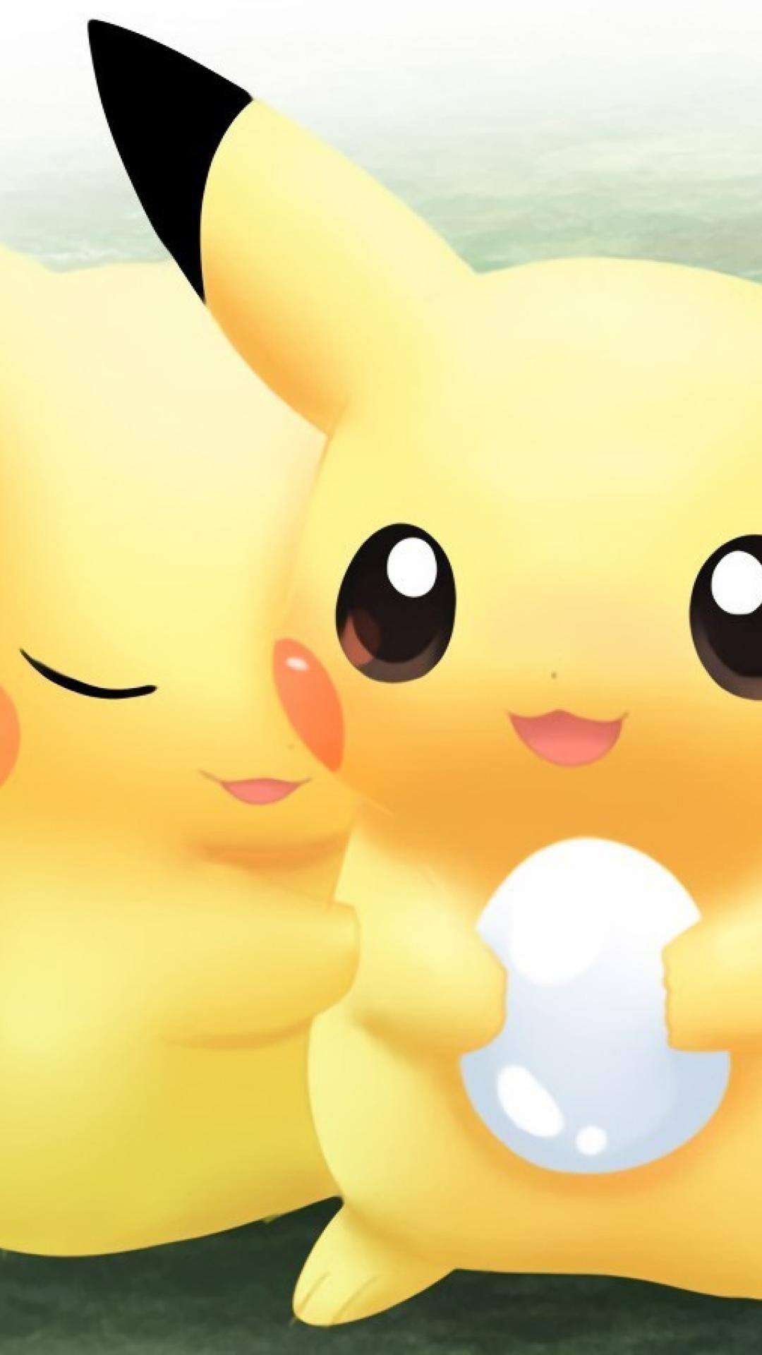 Pokemon Pikachu love girly love iphone 6 plus wallpaper.