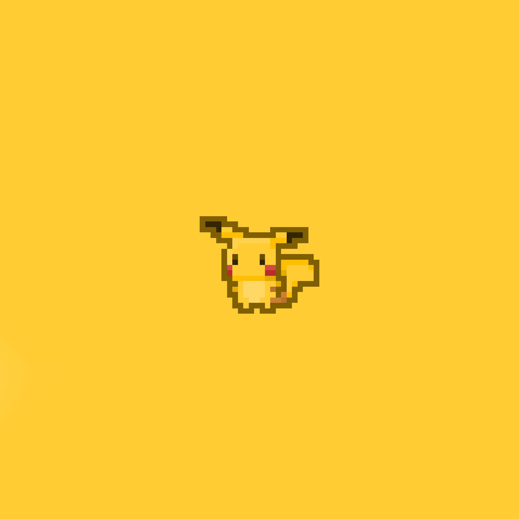 FREEIOS7 | pixel-pikachu – parallax HD iPhone iPad wallpaper