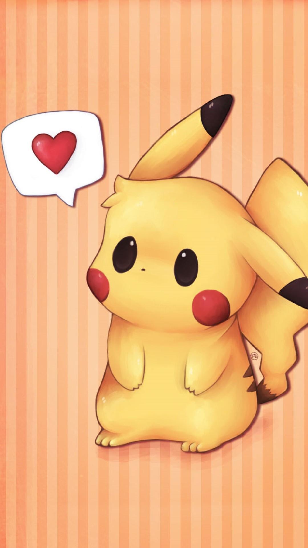 Pokemon Go Pikachu say love Iphone hd wallpaper