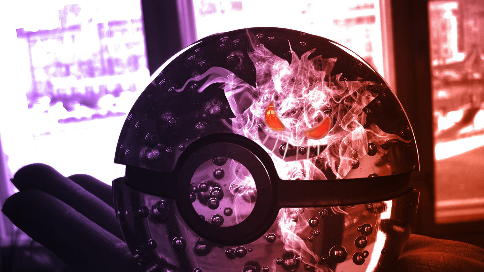 Poke Ball with Gengar HD Wallpaper » FullHDWpp – Full HD …   Для Баха    Pinterest   Hd wallpaper and Wallpaper