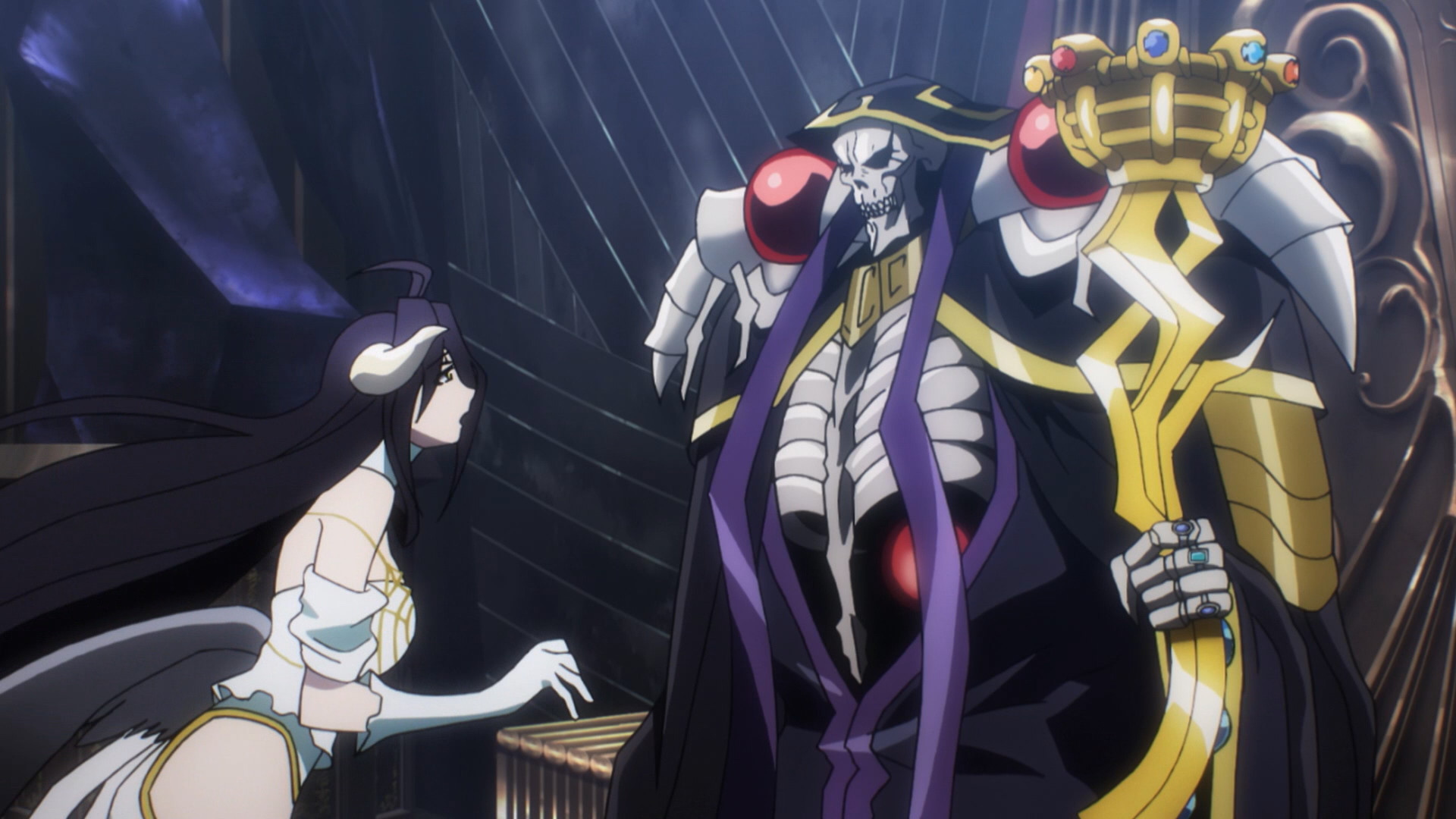 Albedo and Ainz Ooal Gown, Ainz Ooal Gown (Right) with Albedo (Left