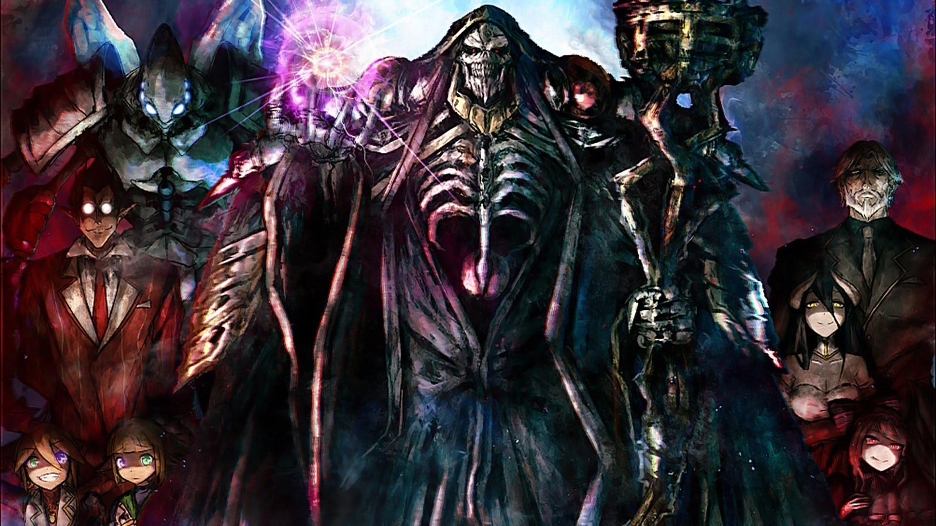 Anime Overlord (anime) Albedo (OverLord) Cocytus (Overlord)  Momonga Aura