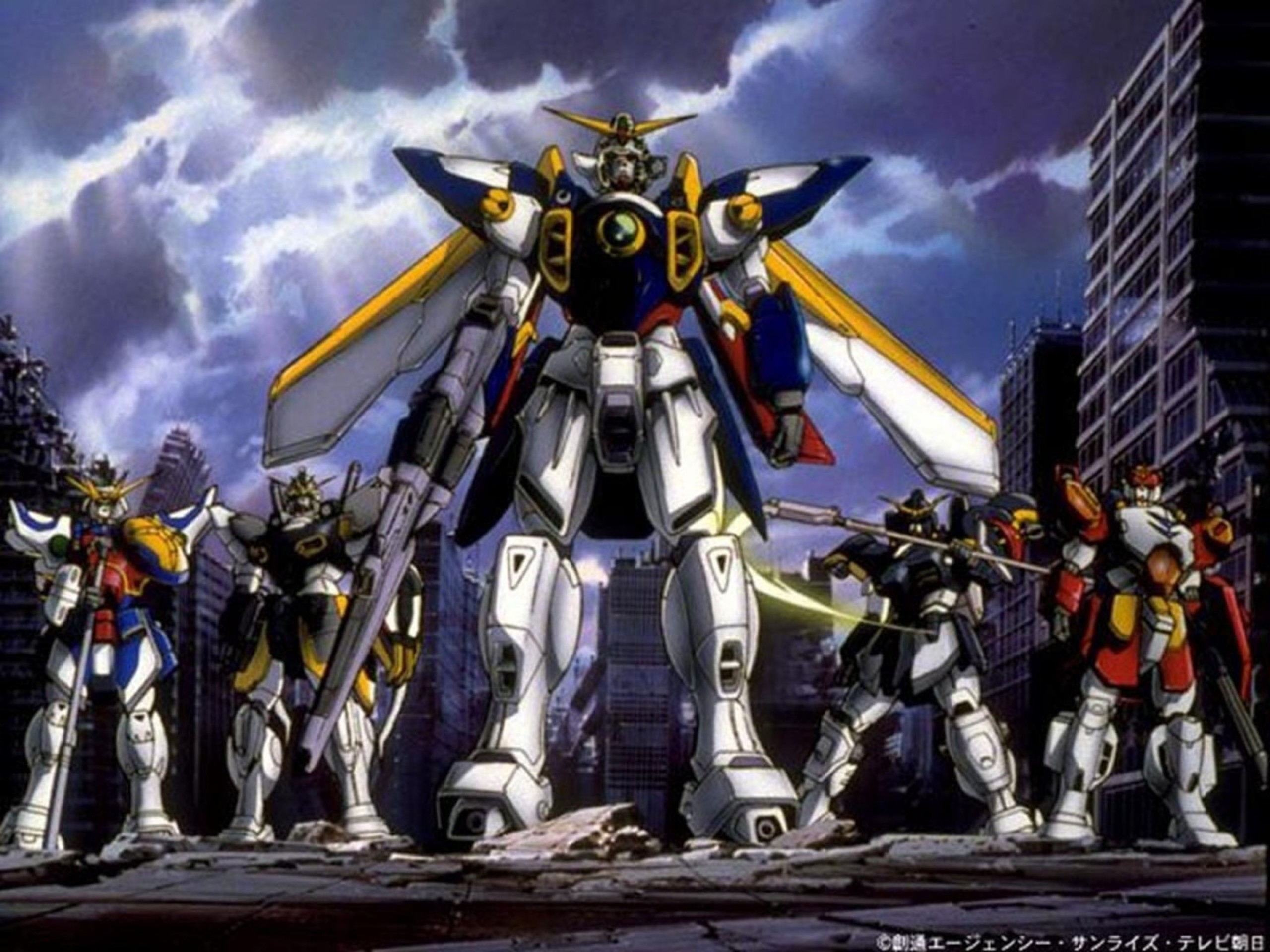 edit: the Death Scythe and Gundam zero mobile suits …