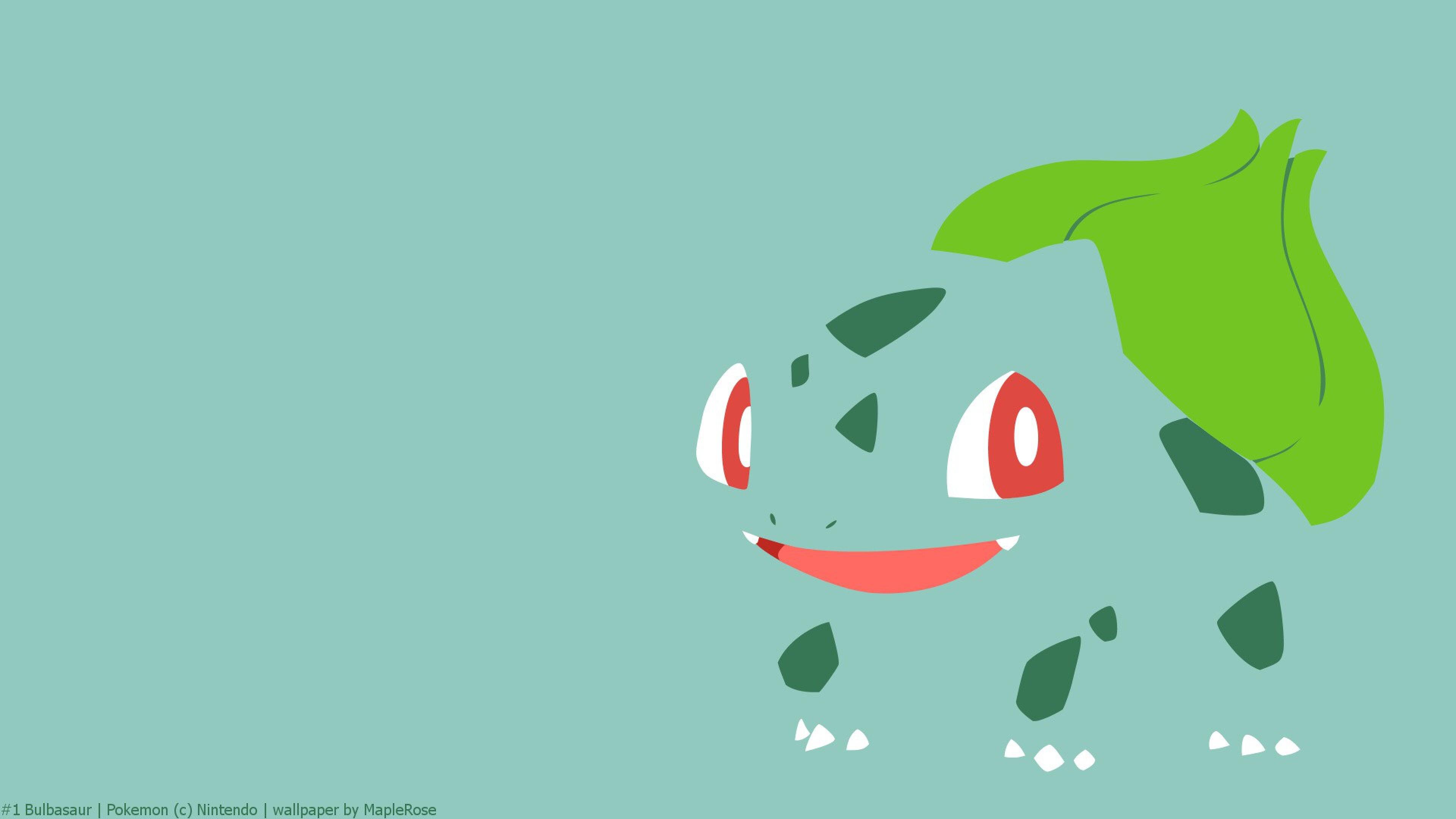 Preview wallpaper bulbasaur, pokemon, drawing 3840×2160