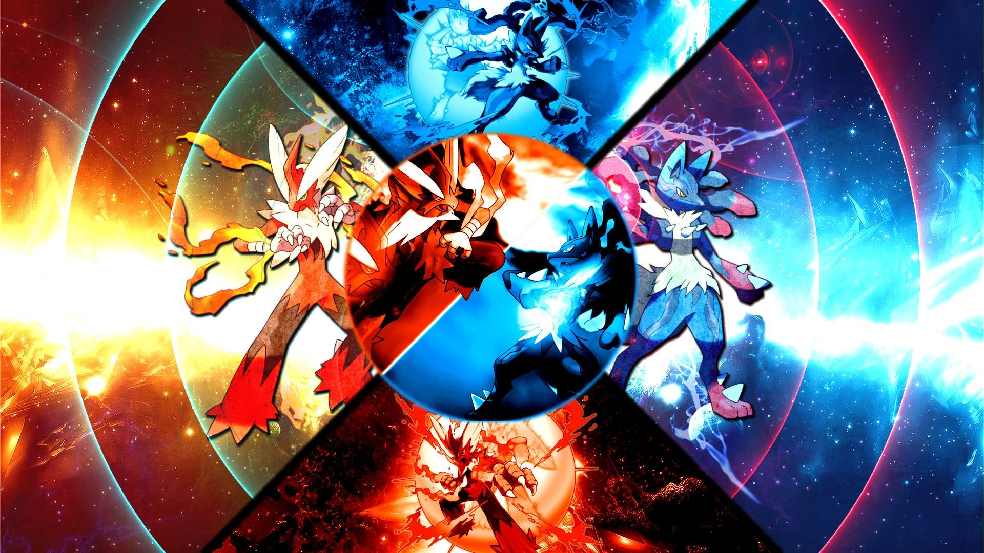 Pokemon Lucario Battle Wallpaper