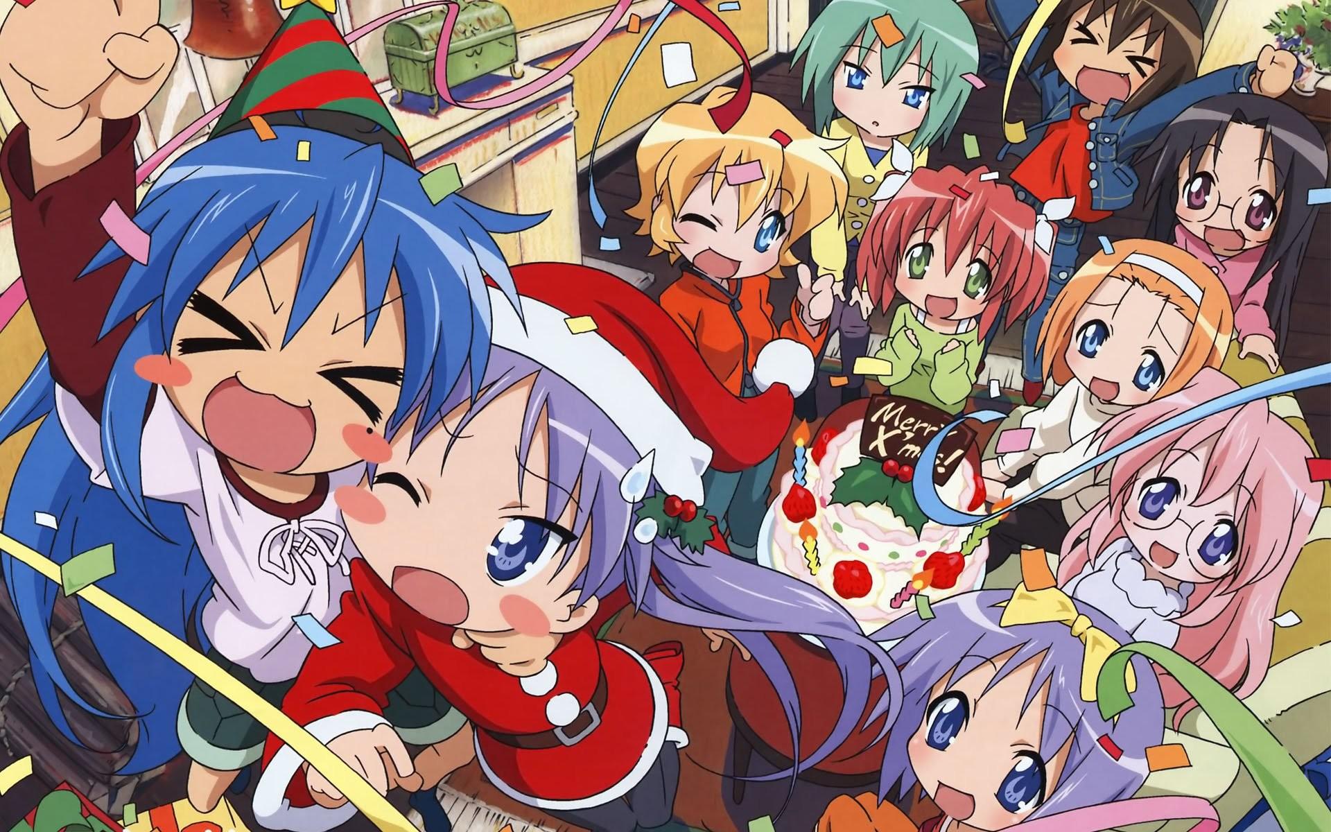Anime Christmas wallpaper   Anime Christmas   Pinterest   Christmas  wallpaper, Anime and Wallpaper