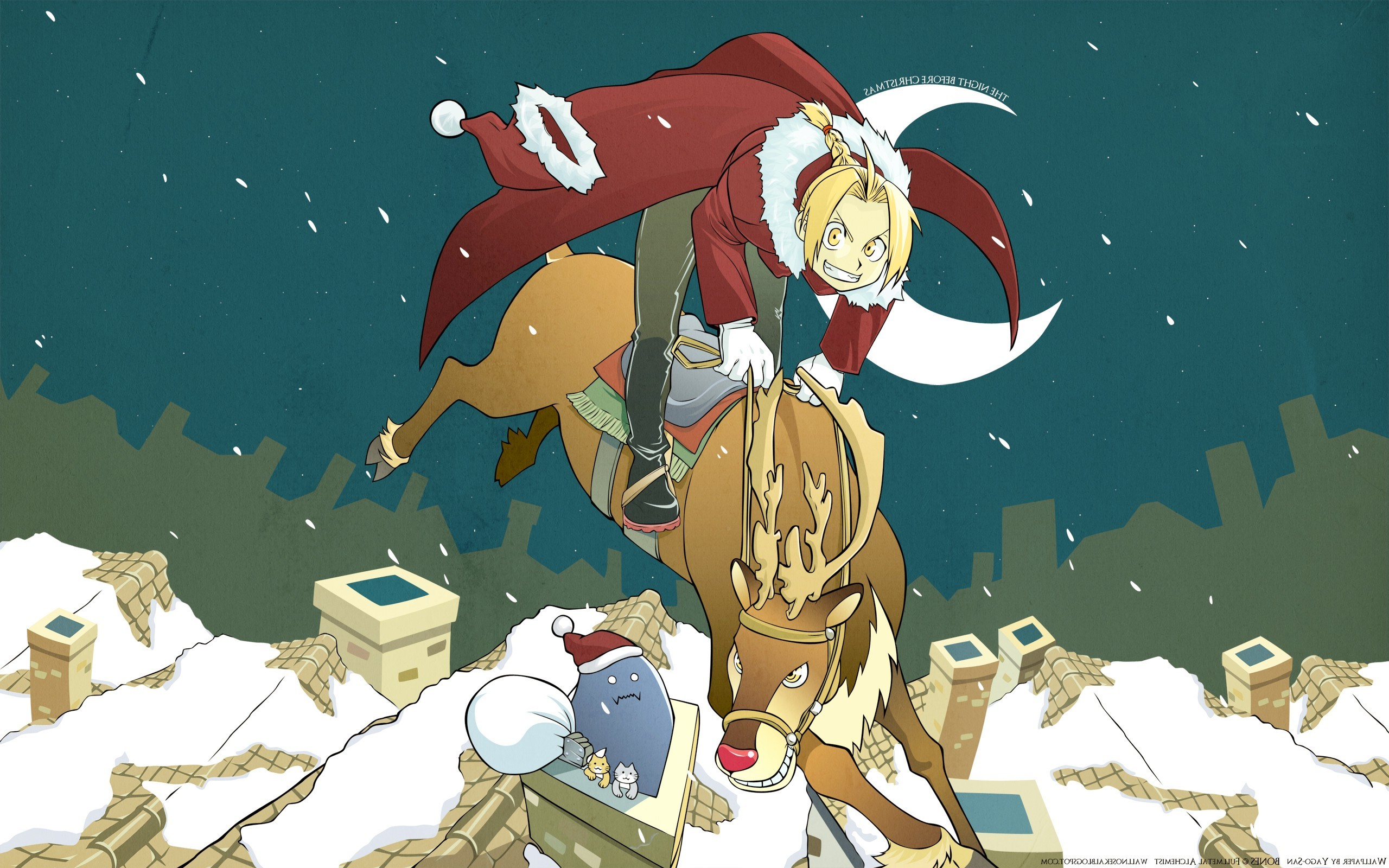 Elric Edward, Elric Alphonse, Anime, Christmas Wallpapers HD / Desktop and  Mobile Backgrounds