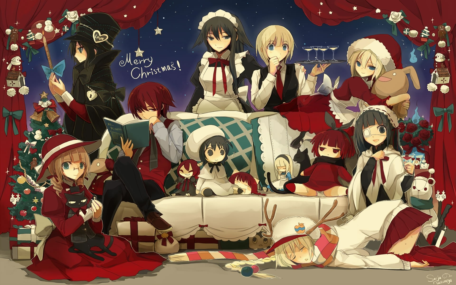 … HD Wallpaper Desktop Background Anime Christmas Wallpaper merry christmas  anime wallpaper …