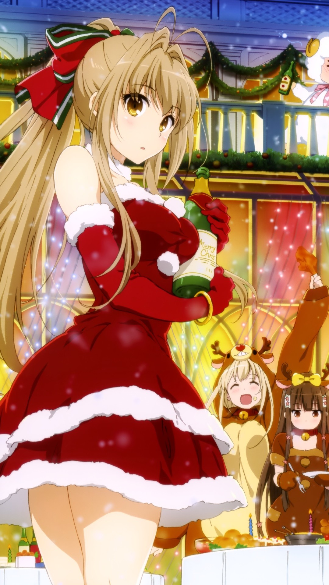 Christmas 2015 anime Amagi Brilliant Park.Samsung Galaxy S4 wallpaper  1080×1920