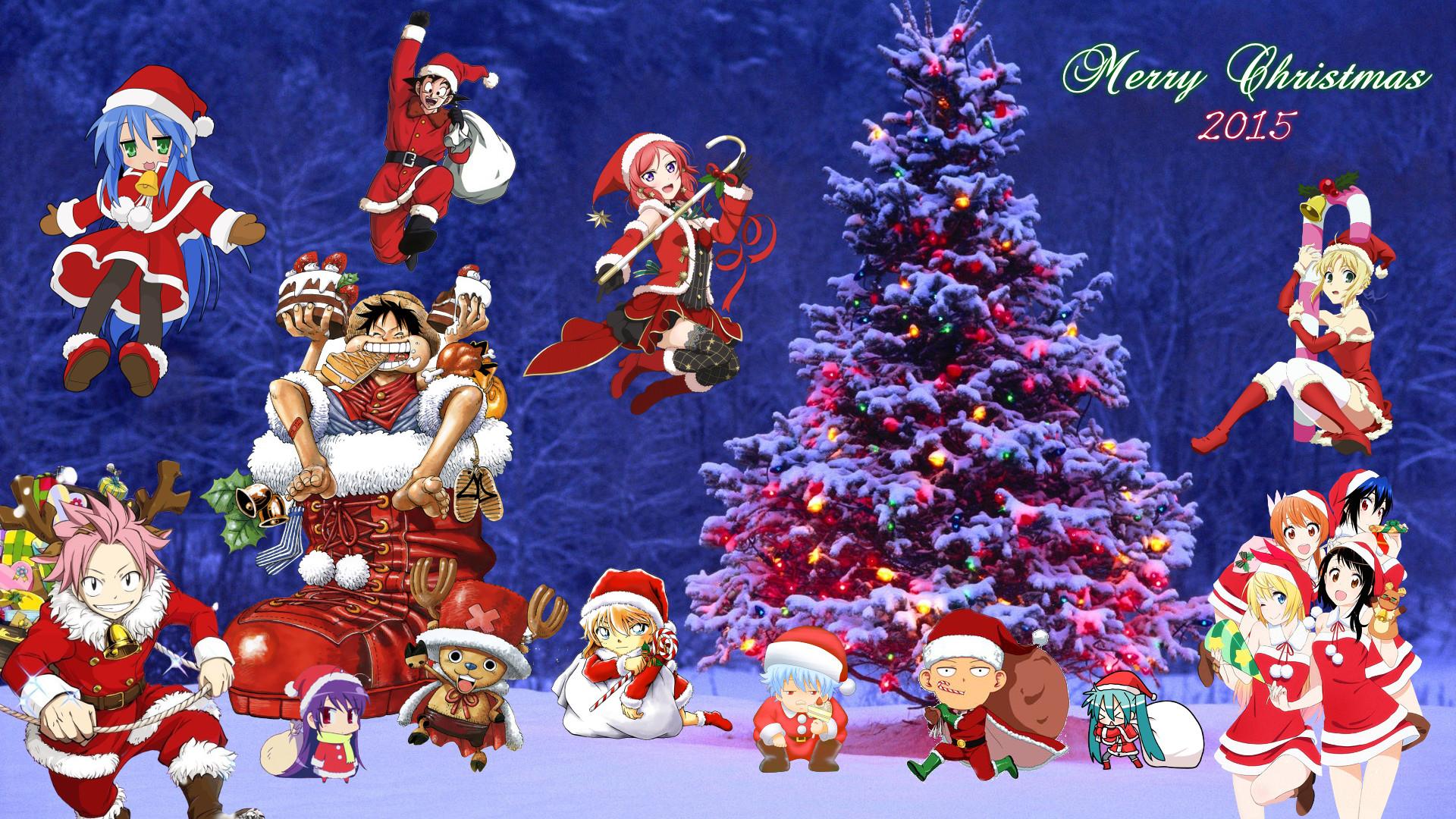 … Anime Christmas Wallpaper 2015 (Version 2) by NekoTheOtaku
