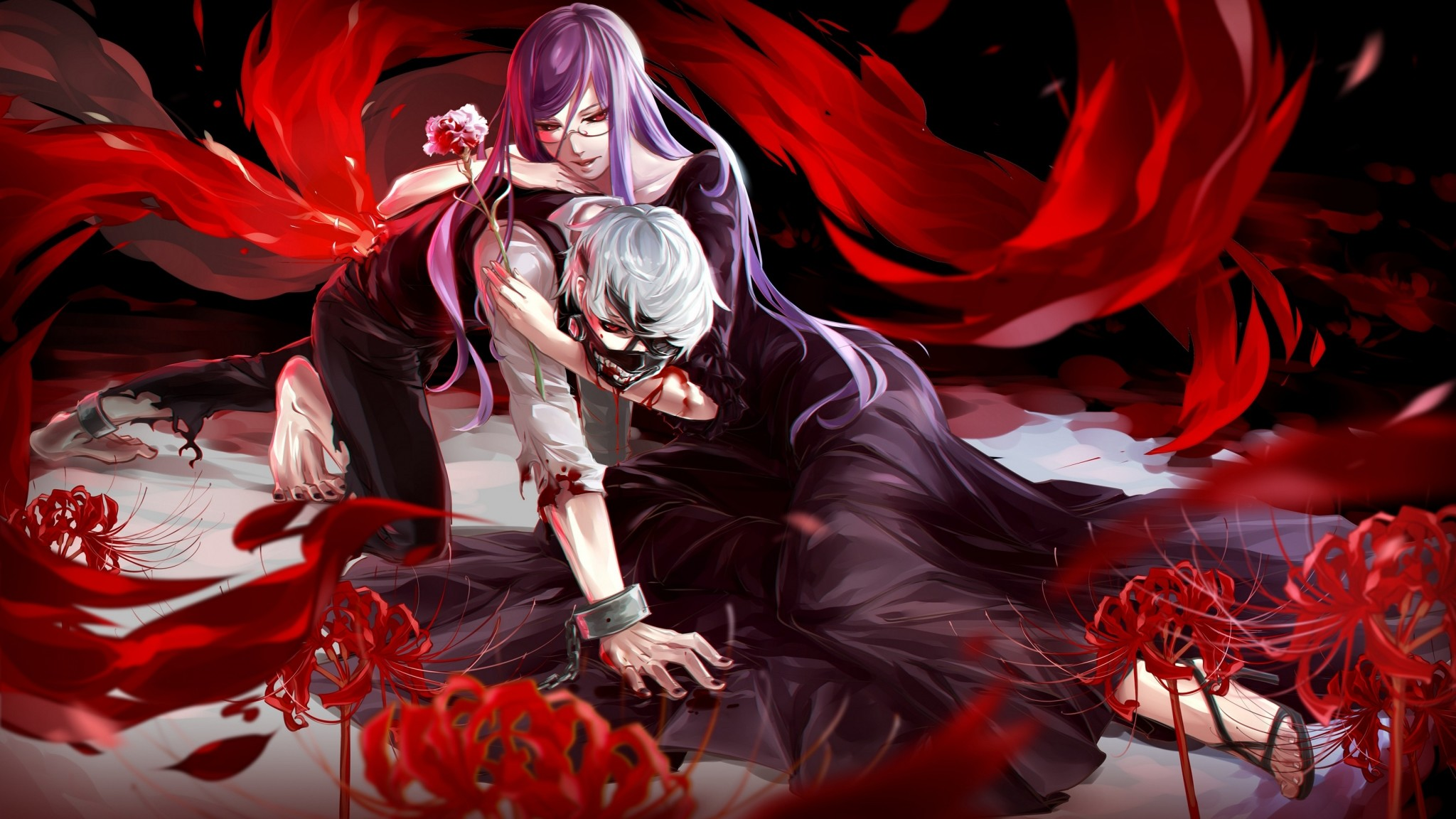 Download Tokyo Ghoul Amazing Anime Christmas Wallpaper In Many Resolutions