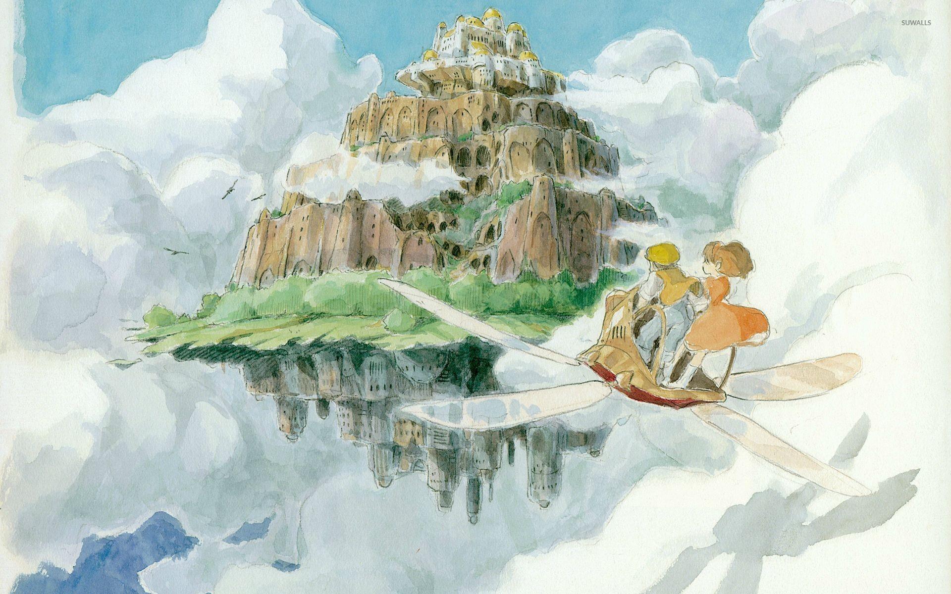 Sheeta and Pazu in Castle in the Sky wallpaper jpg