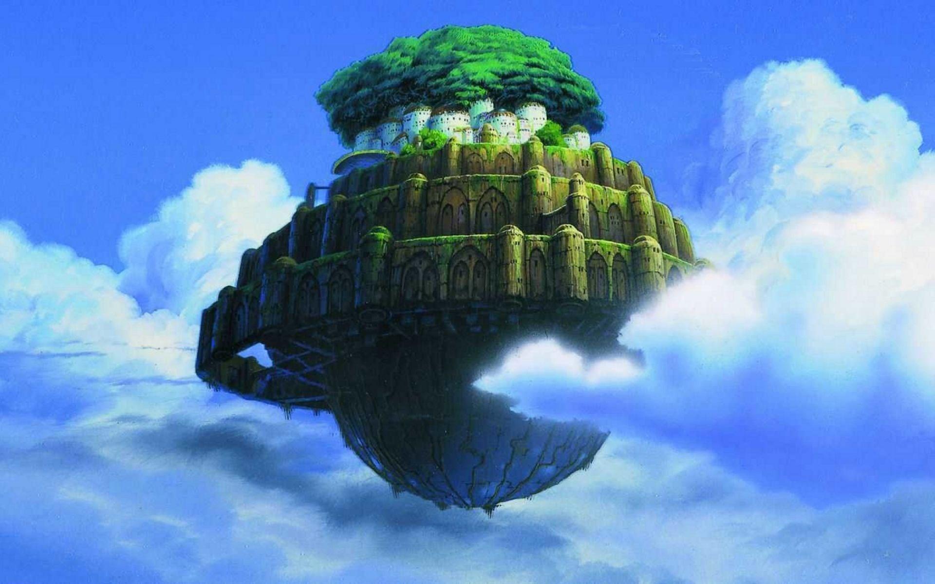 laputa castle in the sky widescreen retina imac
