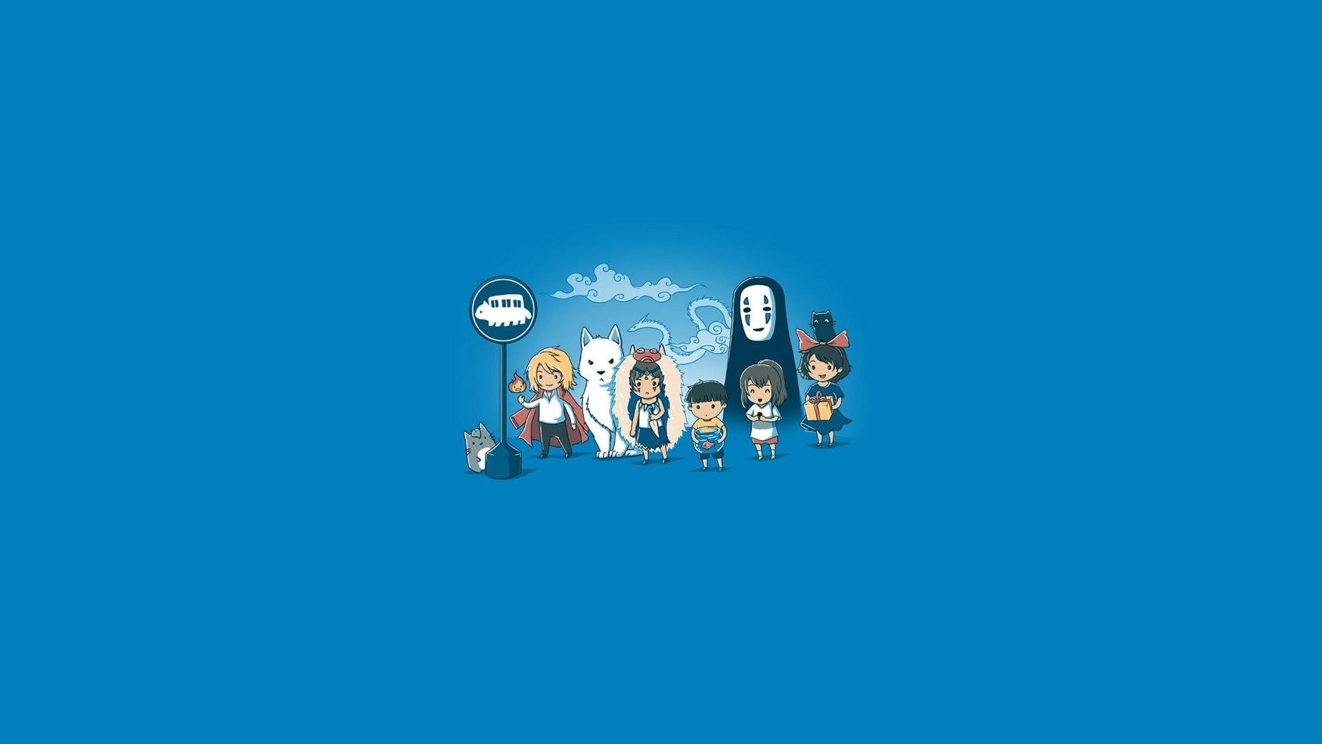 Studio Ghibli My Neighbor Totoro Howl's Moving Castle In The Sky Princess  Mononoke Simple Background Minimalism …