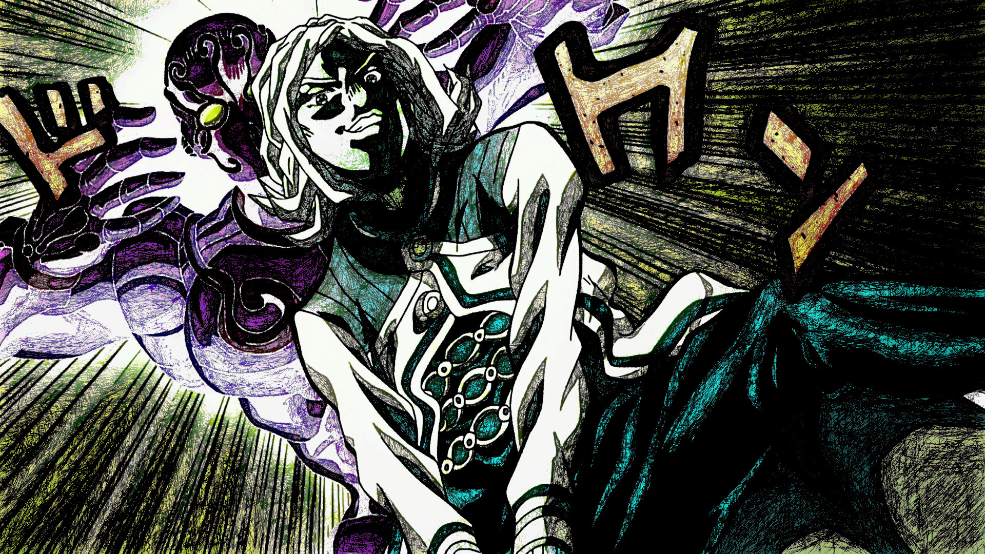 Anime – Jojo's Bizarre Adventure Enigma (Jojo's Bizarre Adventure)  Terunosuke Miyamoto Bakgrund