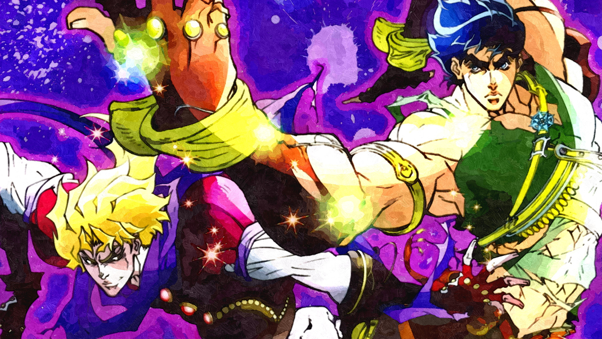 Anime – Jojo's Bizarre Adventure Jonathan Joestar Dio Brando Bakgrund