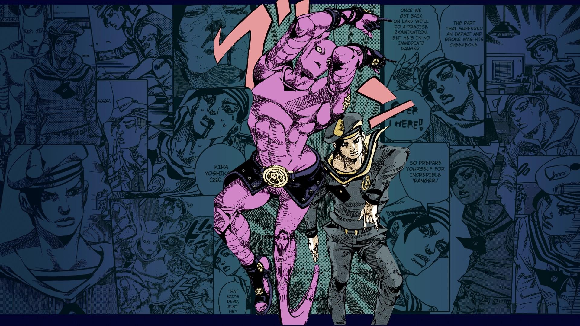 JoJo's Bizarre Adventure: Jojolion Kira Yoshikage Panel Wallpaper