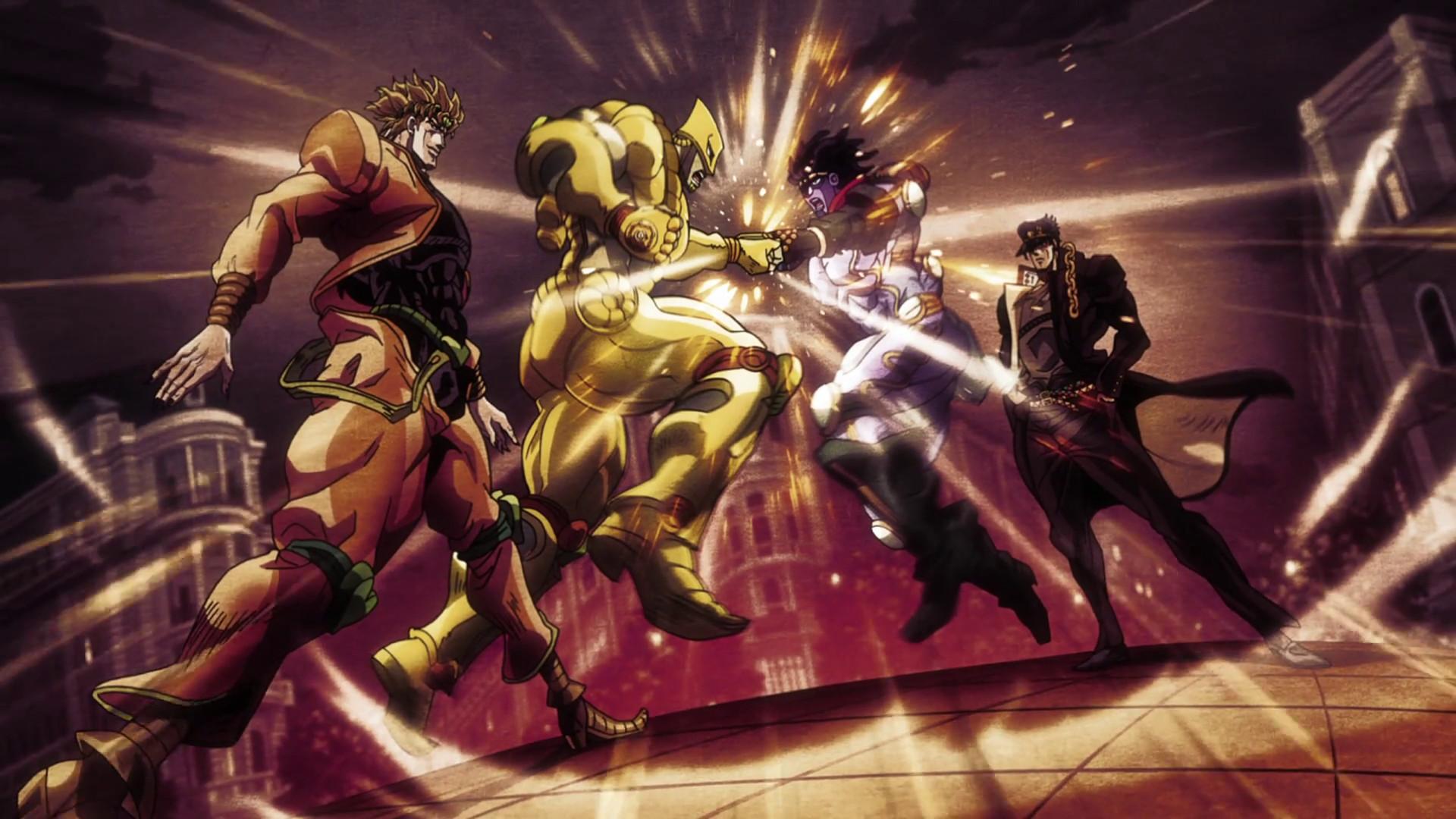 Anime JoJo's Bizarre Adventure: Stardust Crusaders Jotaro Kujo  DIO The World Star Platinum